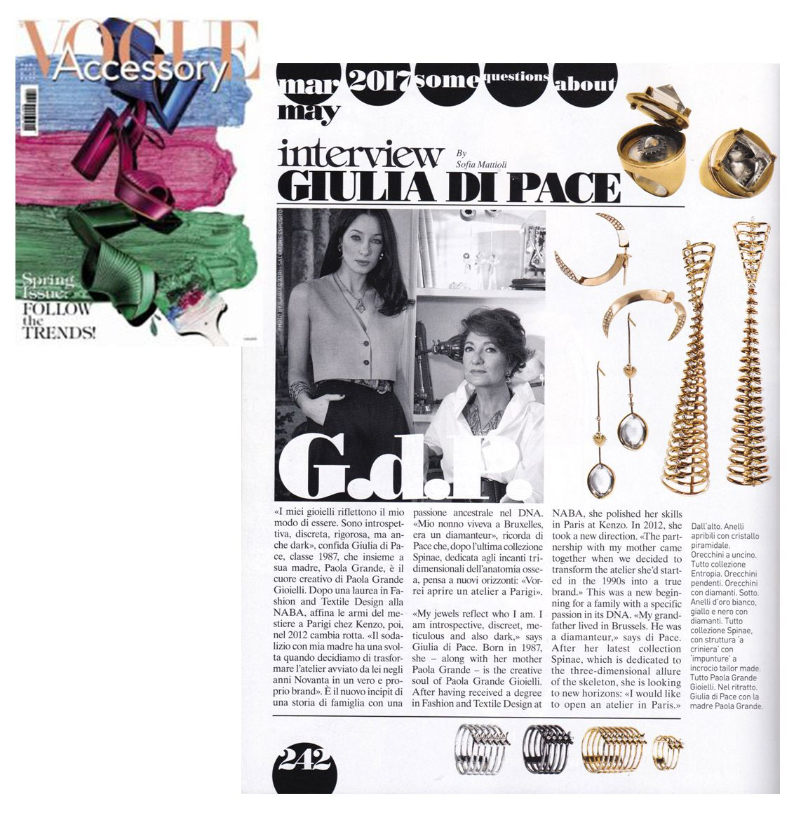 Vogue Accessory Interview with Giulia and Paola