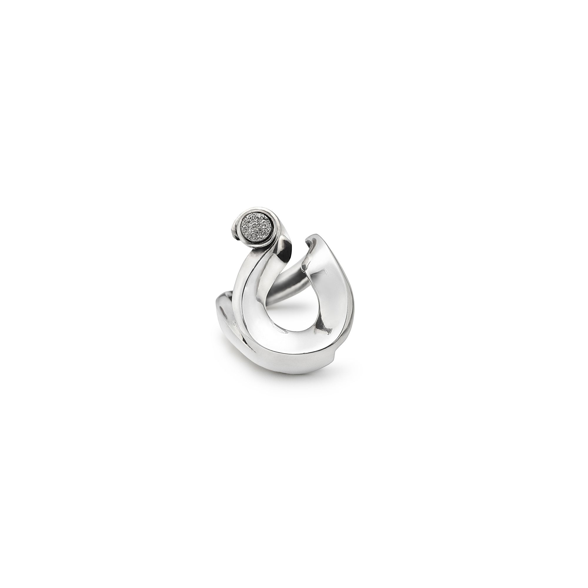 'Nastri' ring Ring in silver with drusa