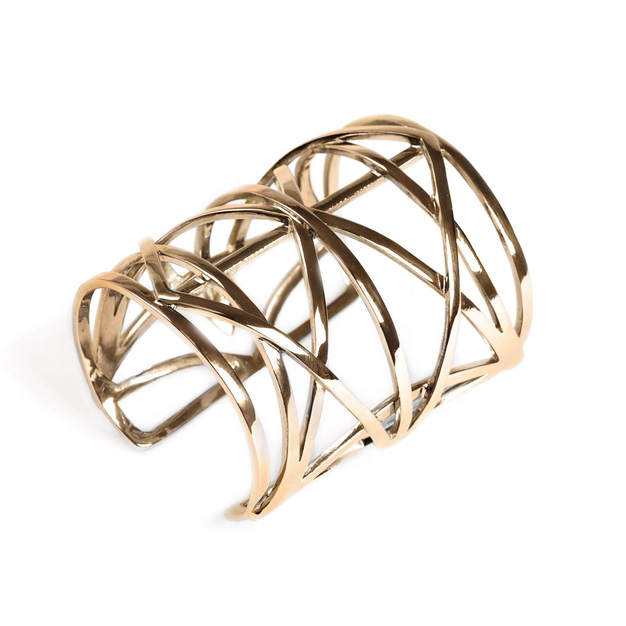 Bracciale 'Griglie' bronzo Bracciale alla schiava in bronzo
