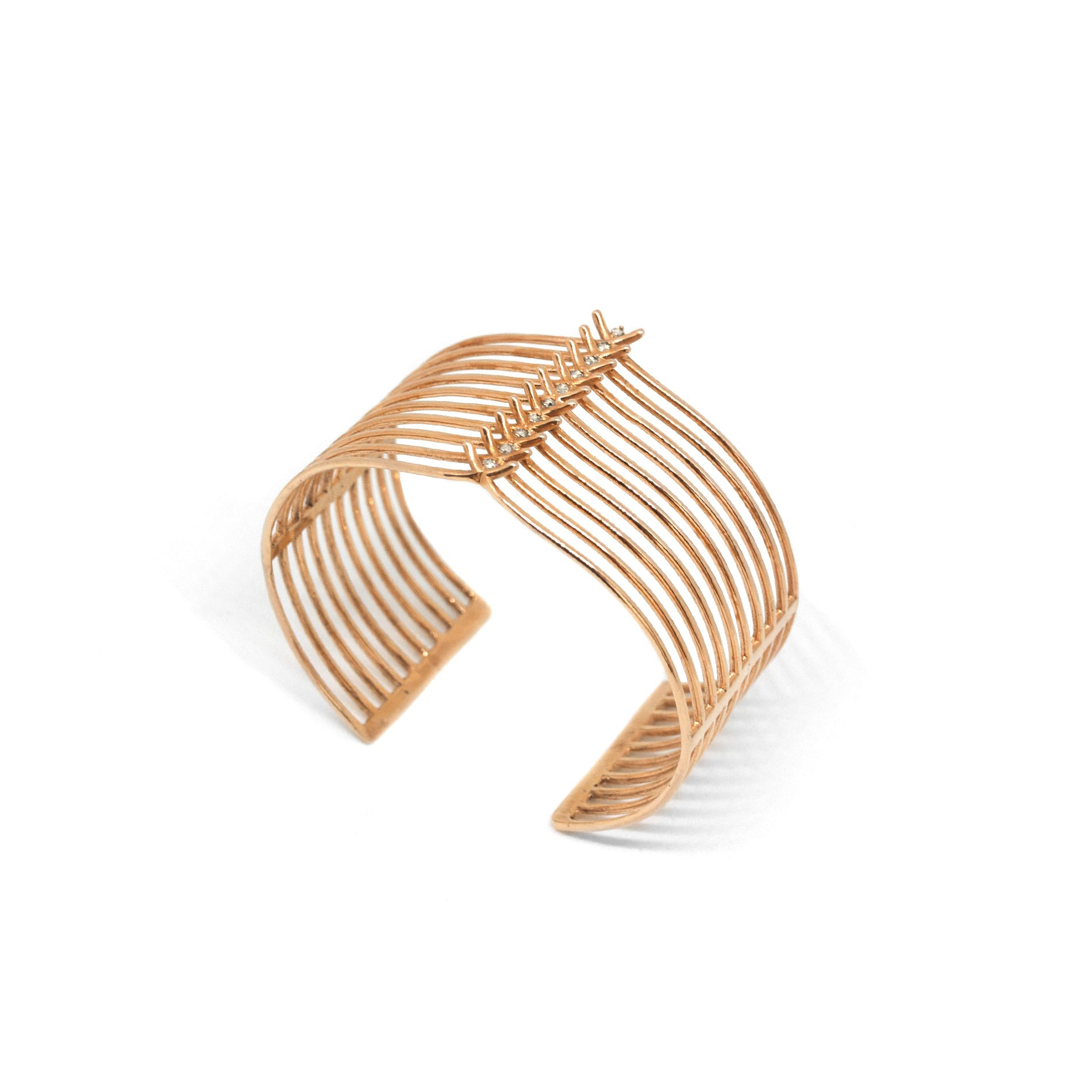 10 element 'Spinae' bracelet Bracelet in rose gold and diamonds