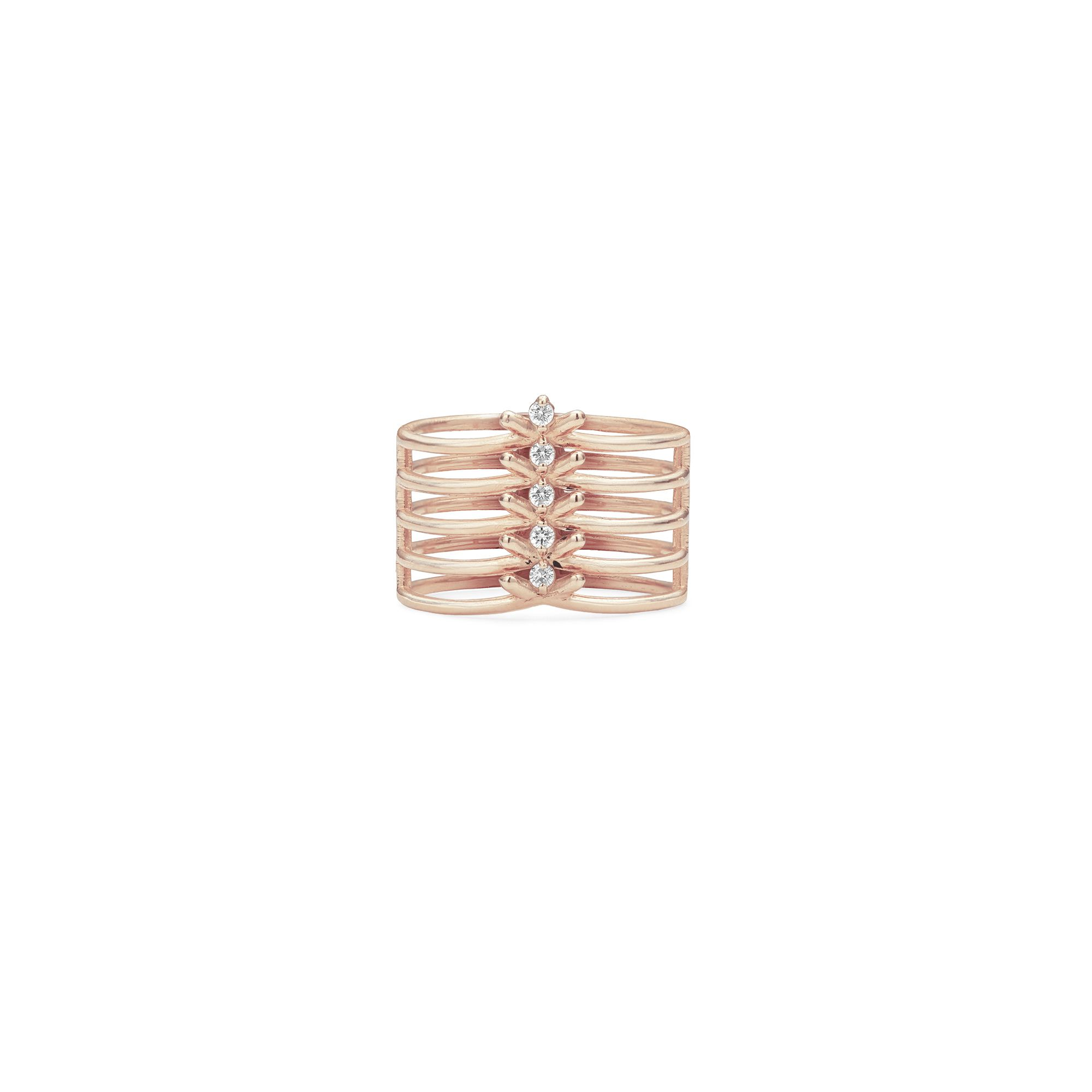 5 element 'Spinae' ring Ring is rose gold and diamonds