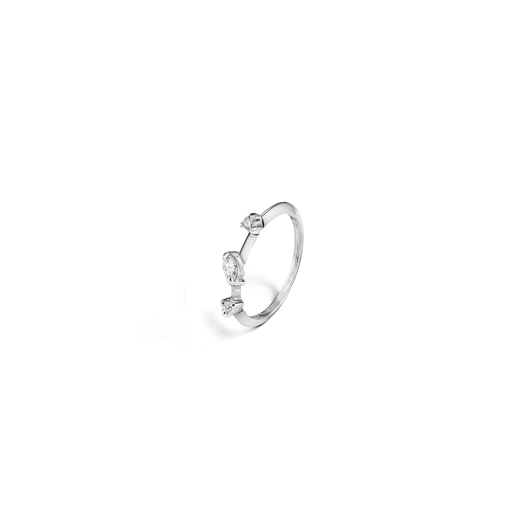 'Balance' white gold ring Ring in white gold and diamonds