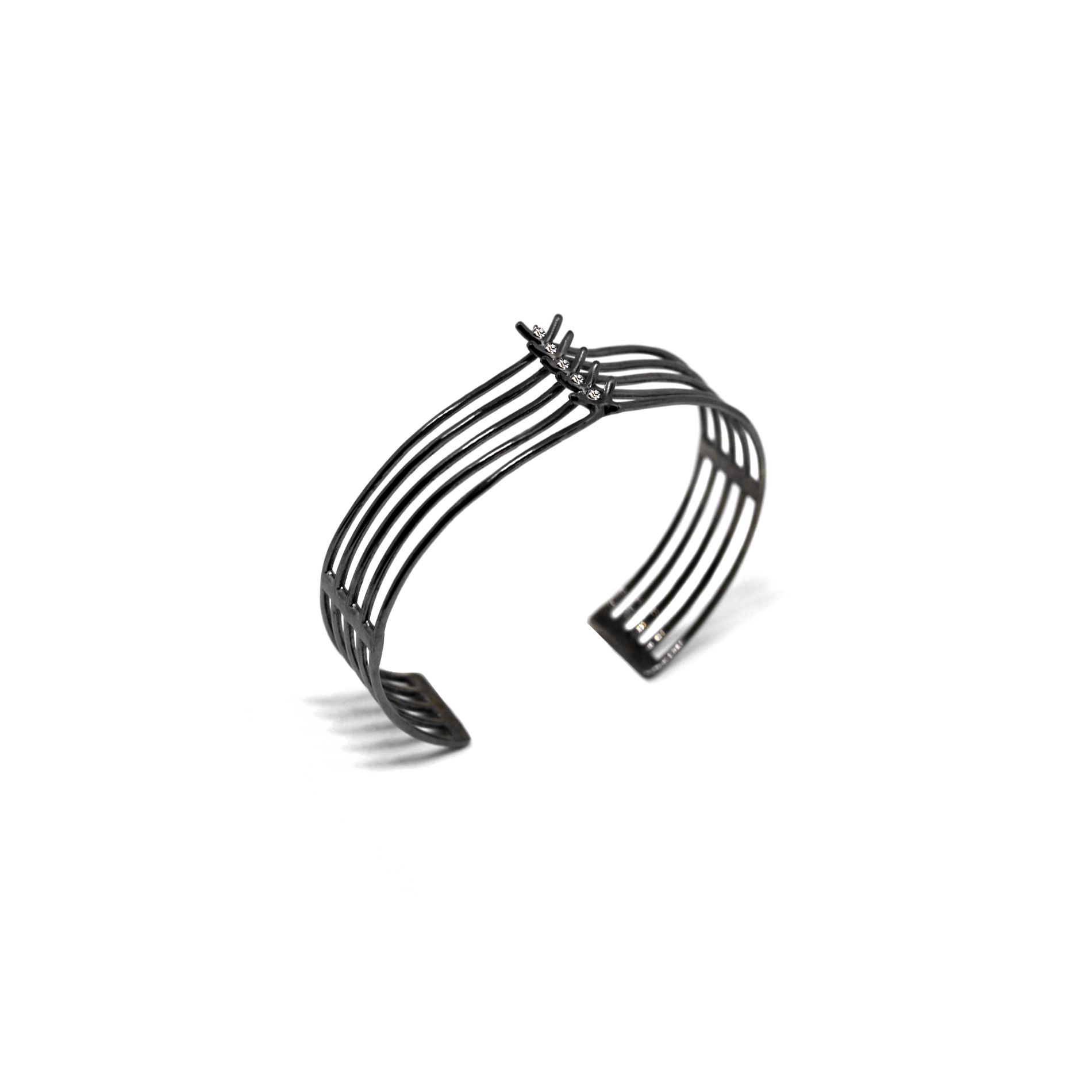 5 element 'Spinae' bracelet Bracelet in black silver