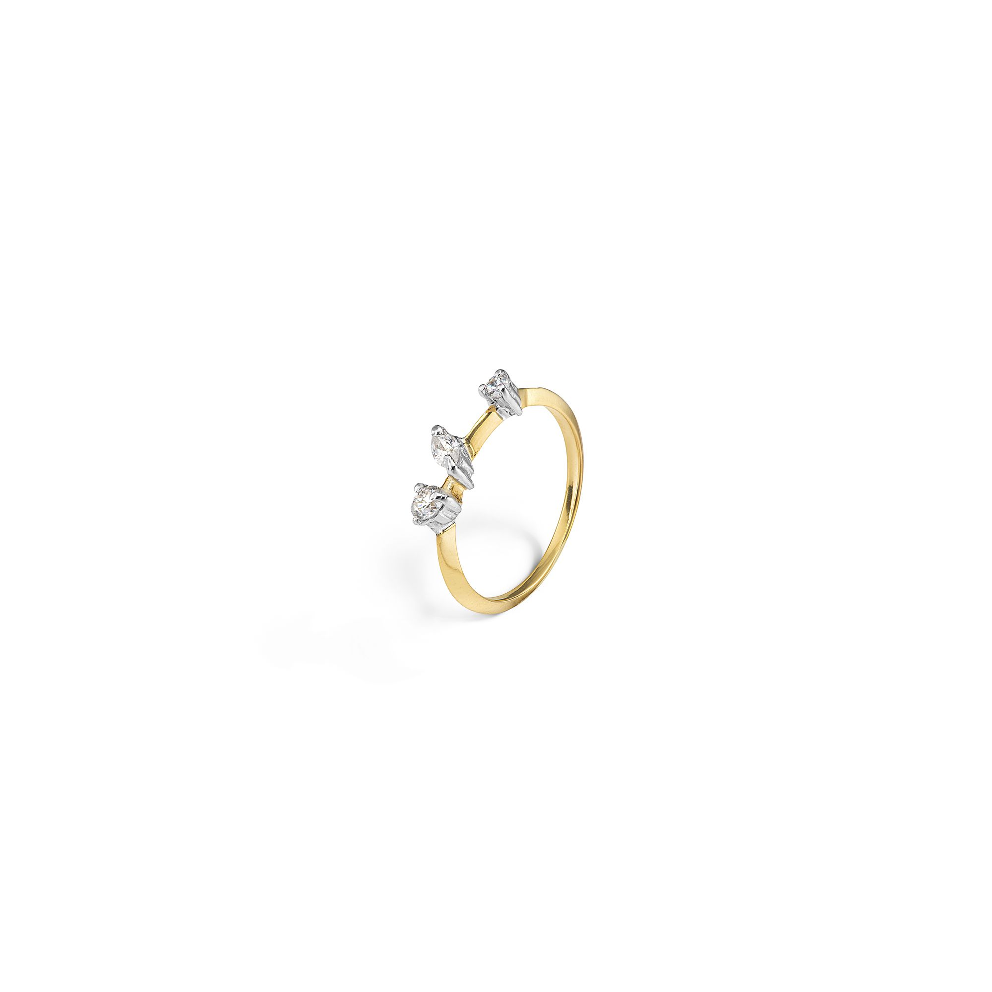 Yellow gold 'Balance' ring Ring in yellow gold and diamonds