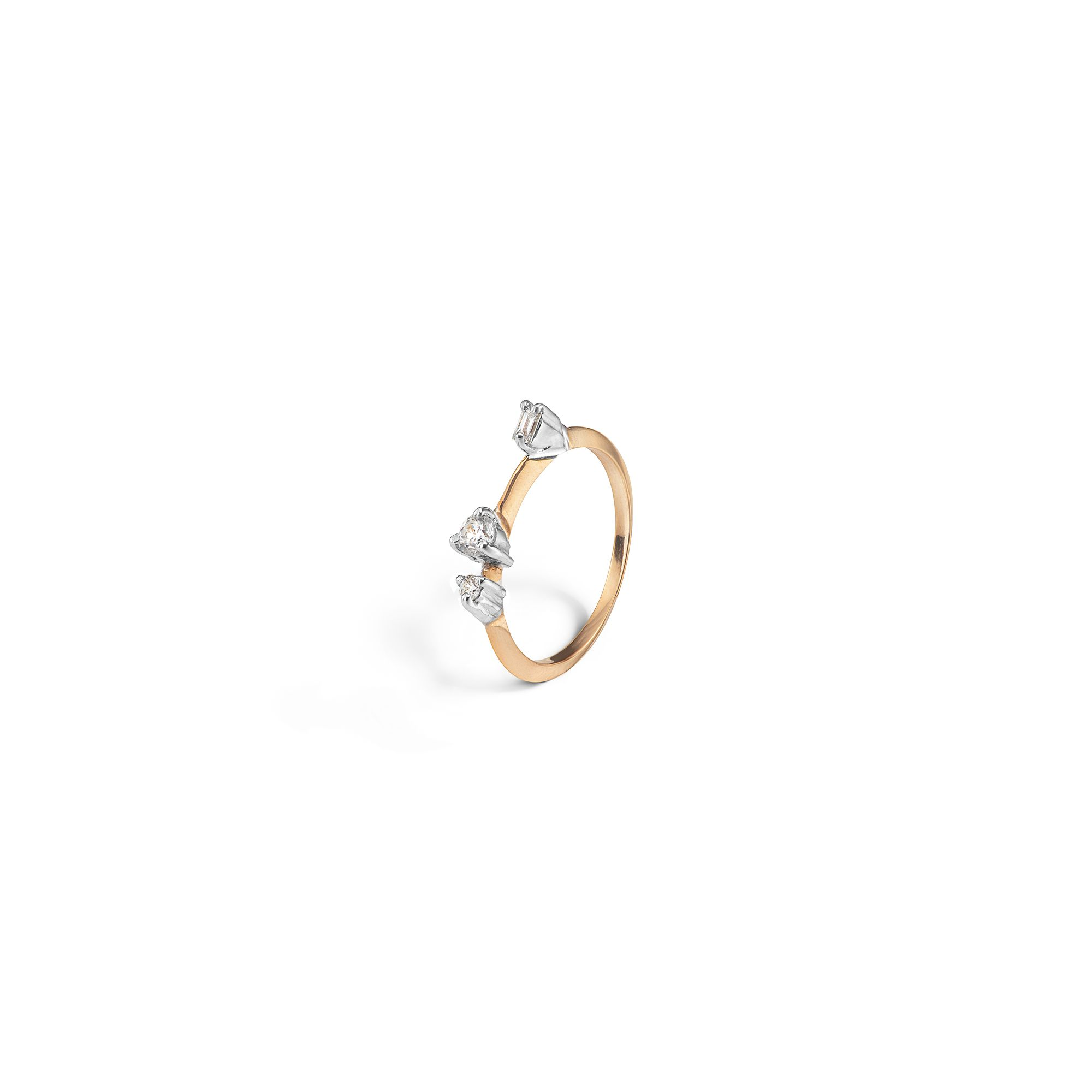 Rose gold 'Balance' ring Ring in rose gold and diamonds