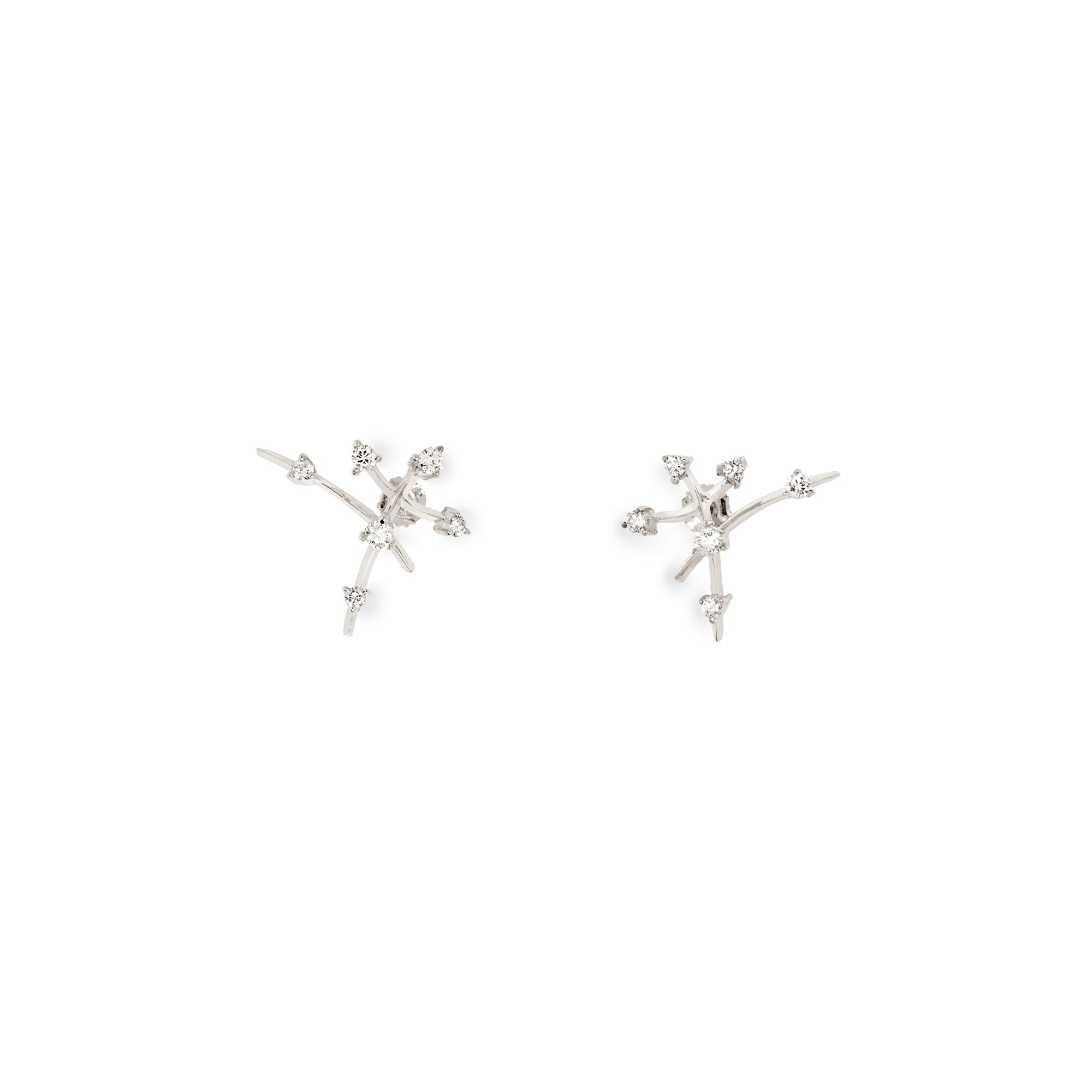 Kandisky Earrings in white gold and diamonds