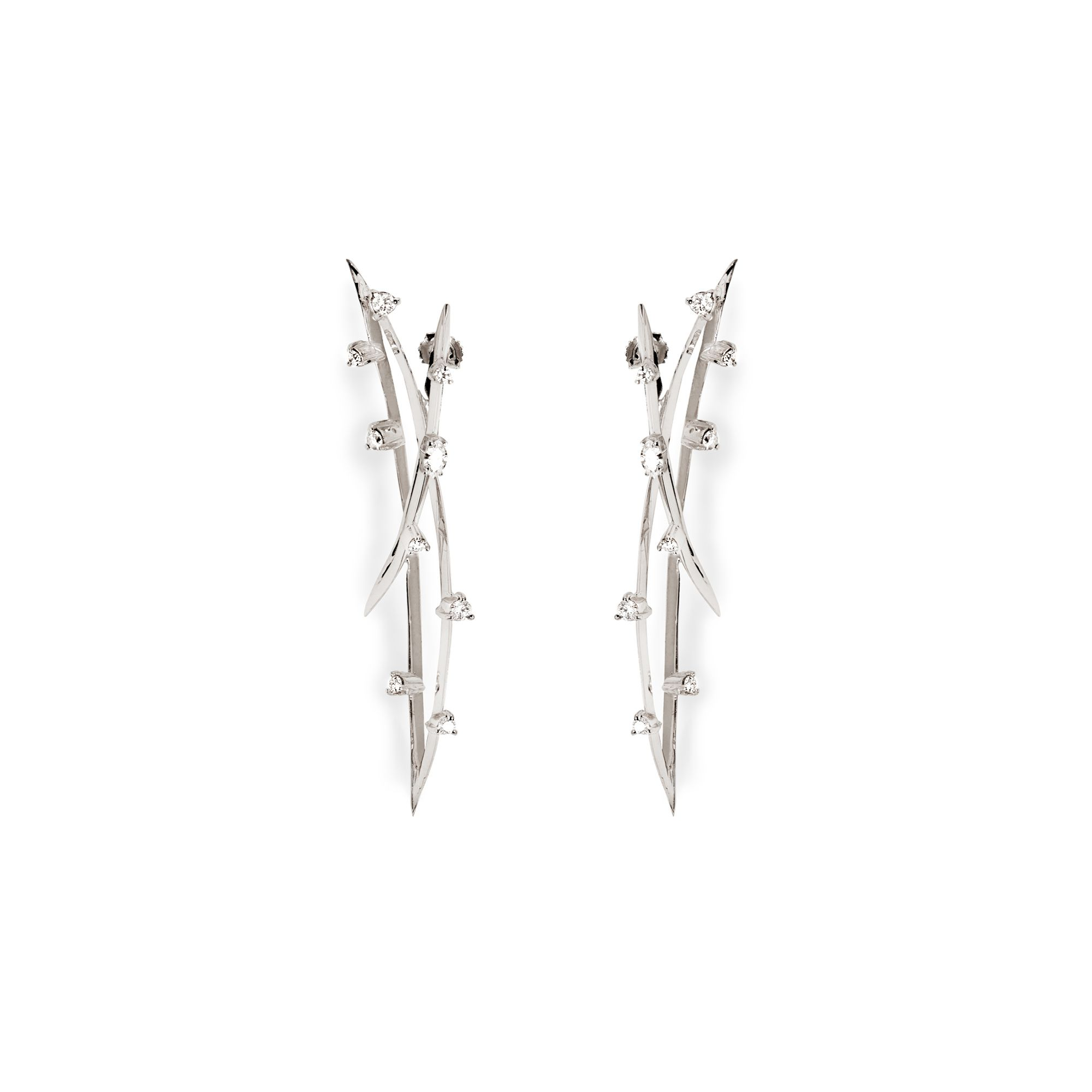 Double orbit earrings Earrings in white gold and diamonds