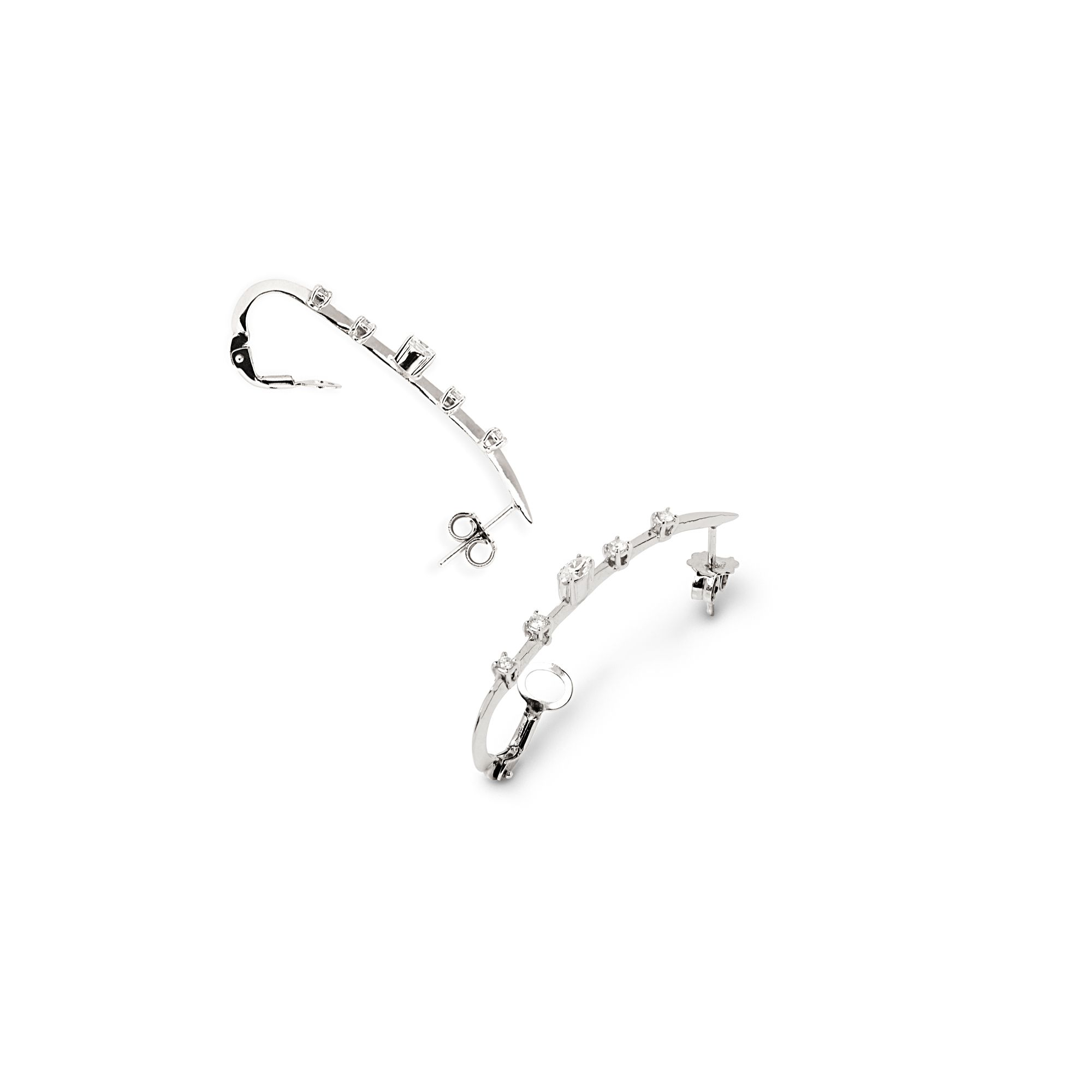 White gold 'Lance' earrings Earrings in white gold and diamonds