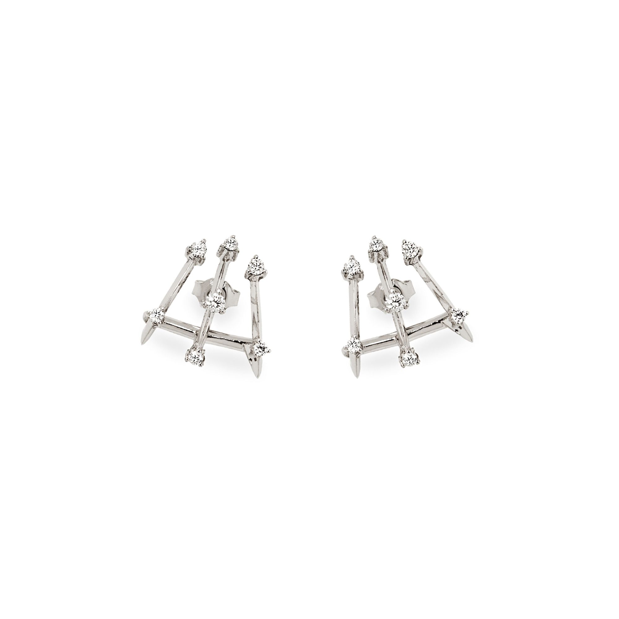 3 element 'Balance' earrings Earrings in white gold and diamonds
