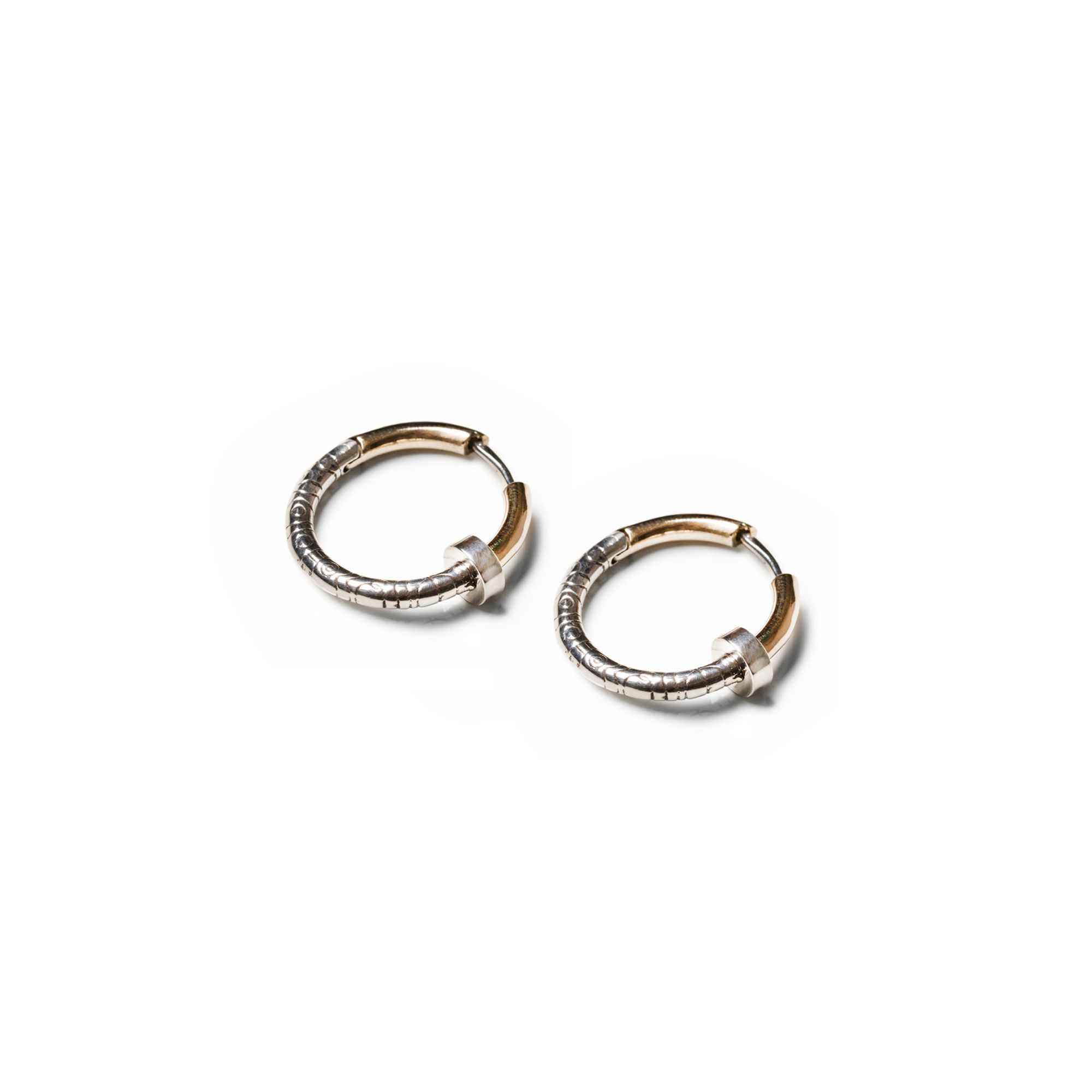 'Neon' hoops Earrings in silver and bronze