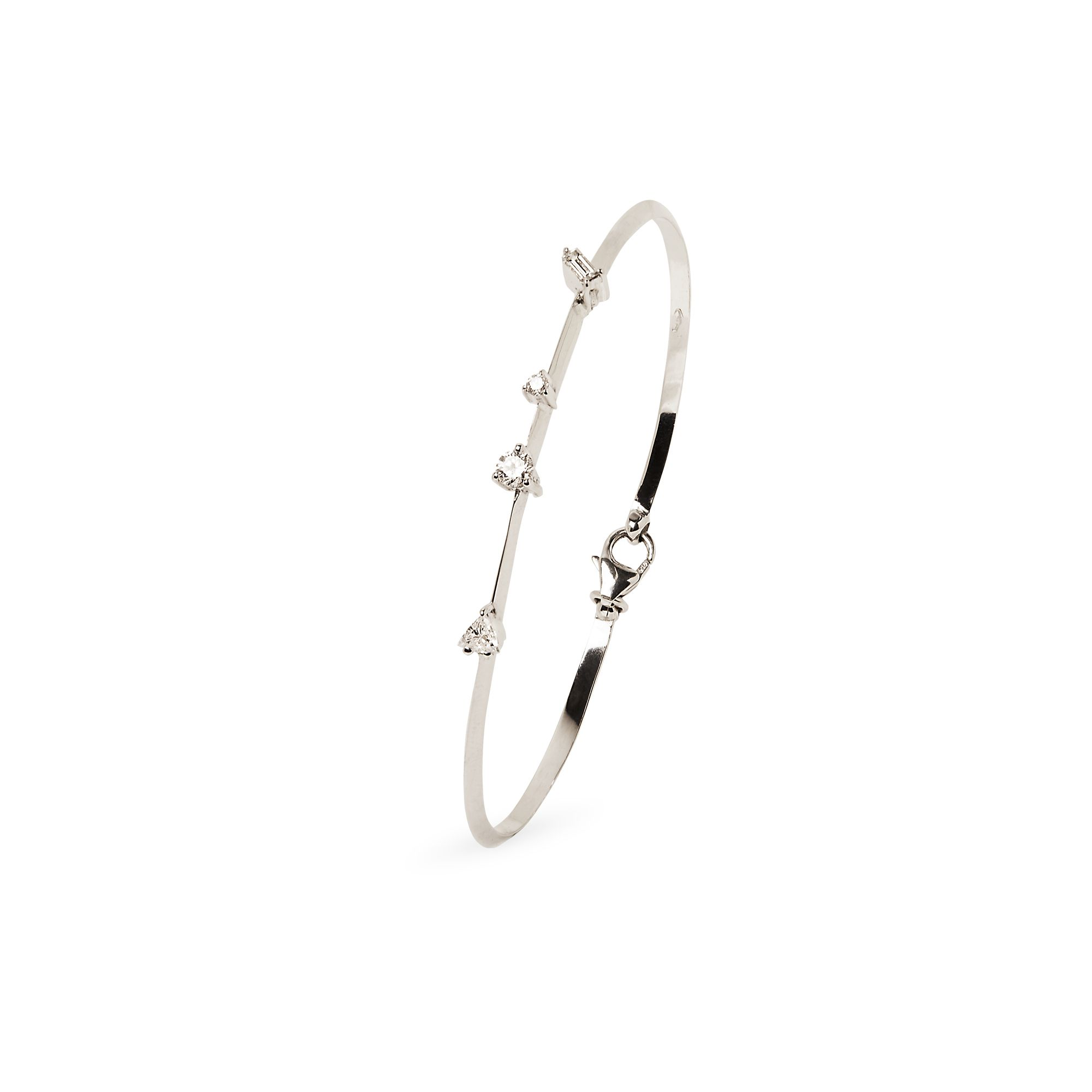 White gold 'Balance' bracelet White gold bracelet with diamonds