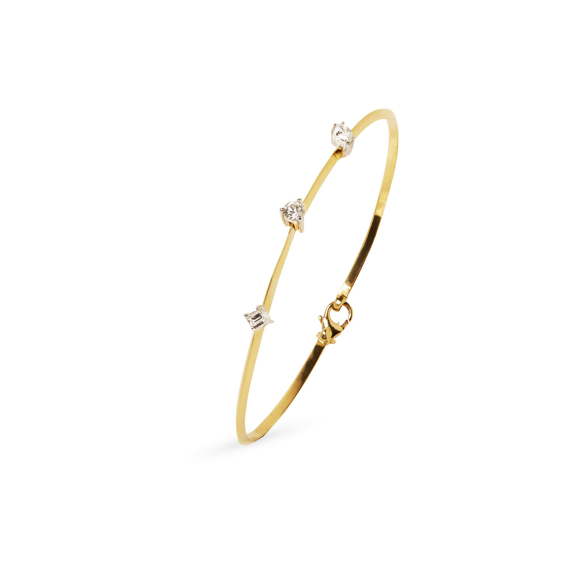 Yellow gold 'Balance' Bracelet Bracelet in yellow gold and diamonds
