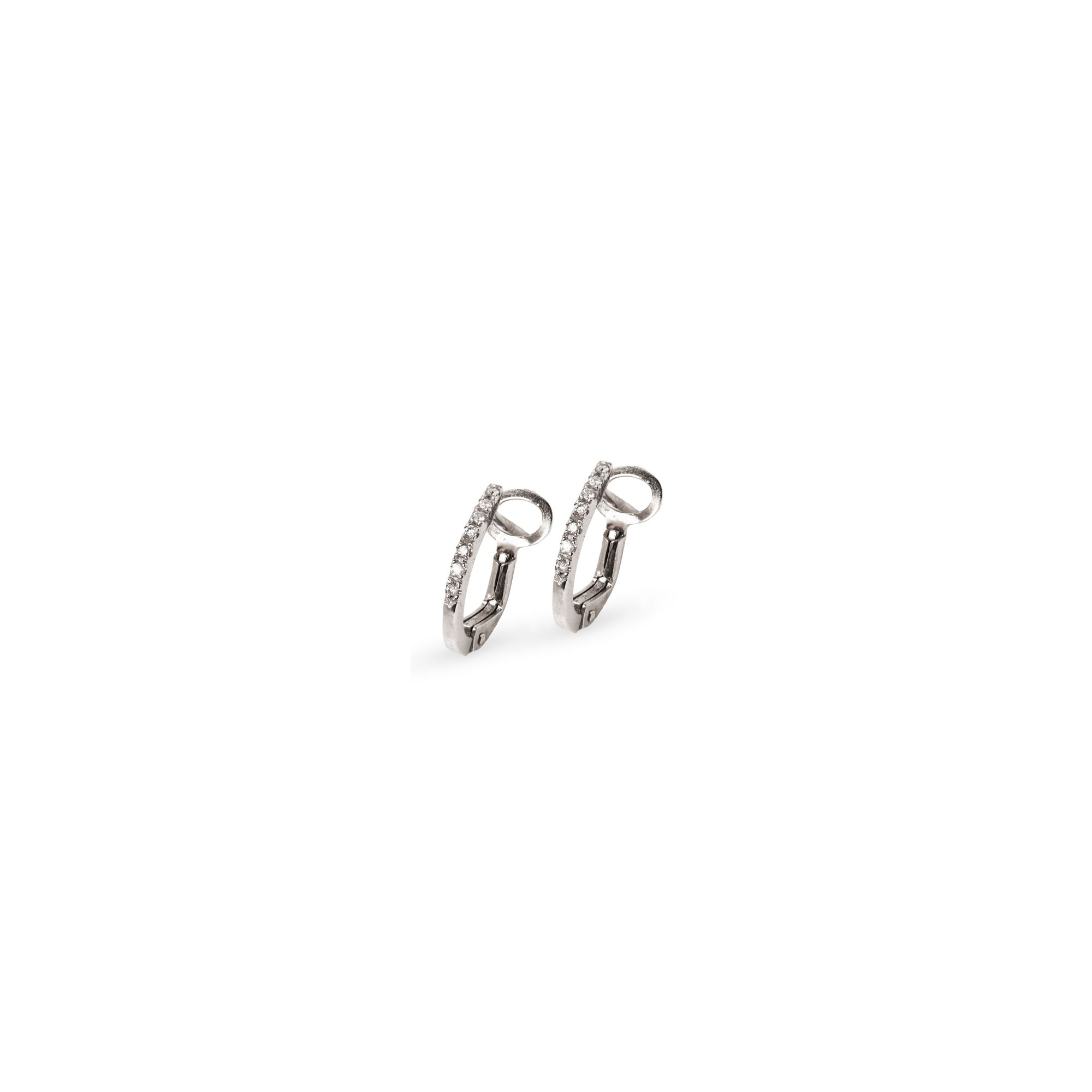 'Balance' small hoop earrings Earrings in white gold and diamonds