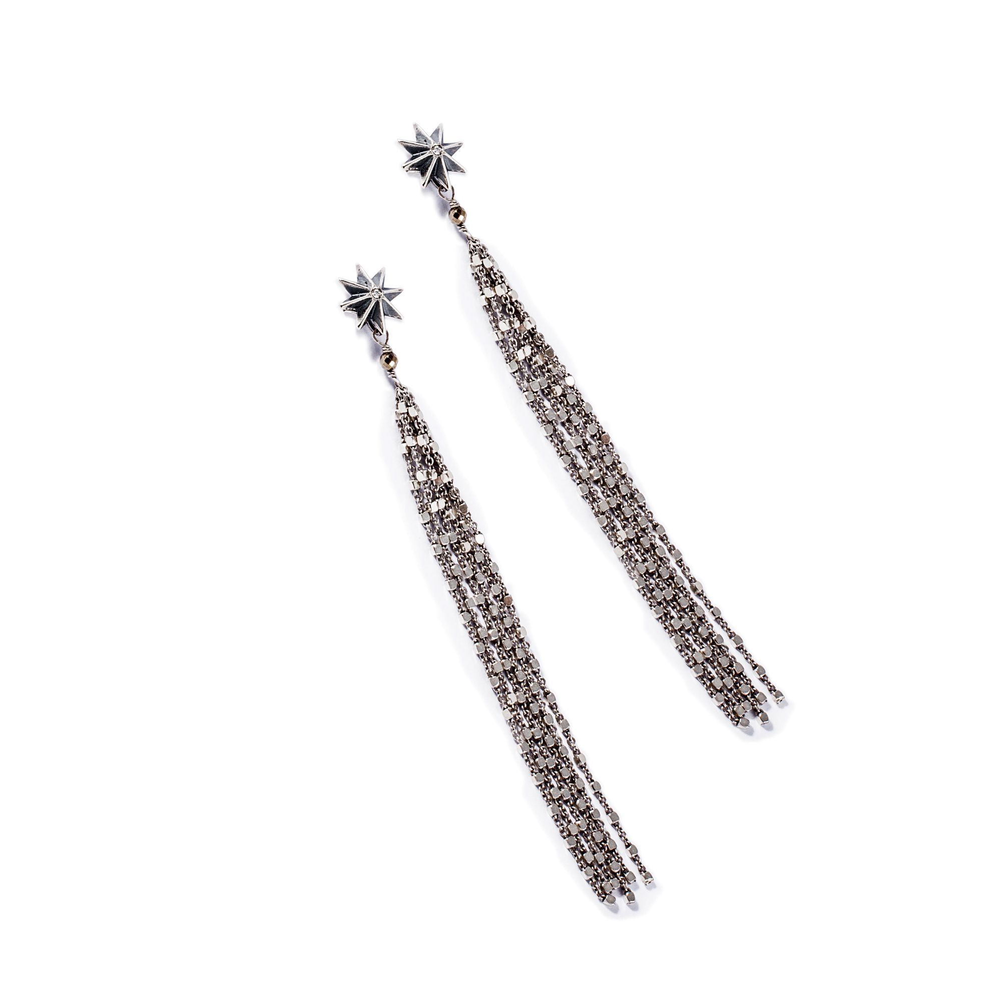 'Star' long earrings Earrings in silver