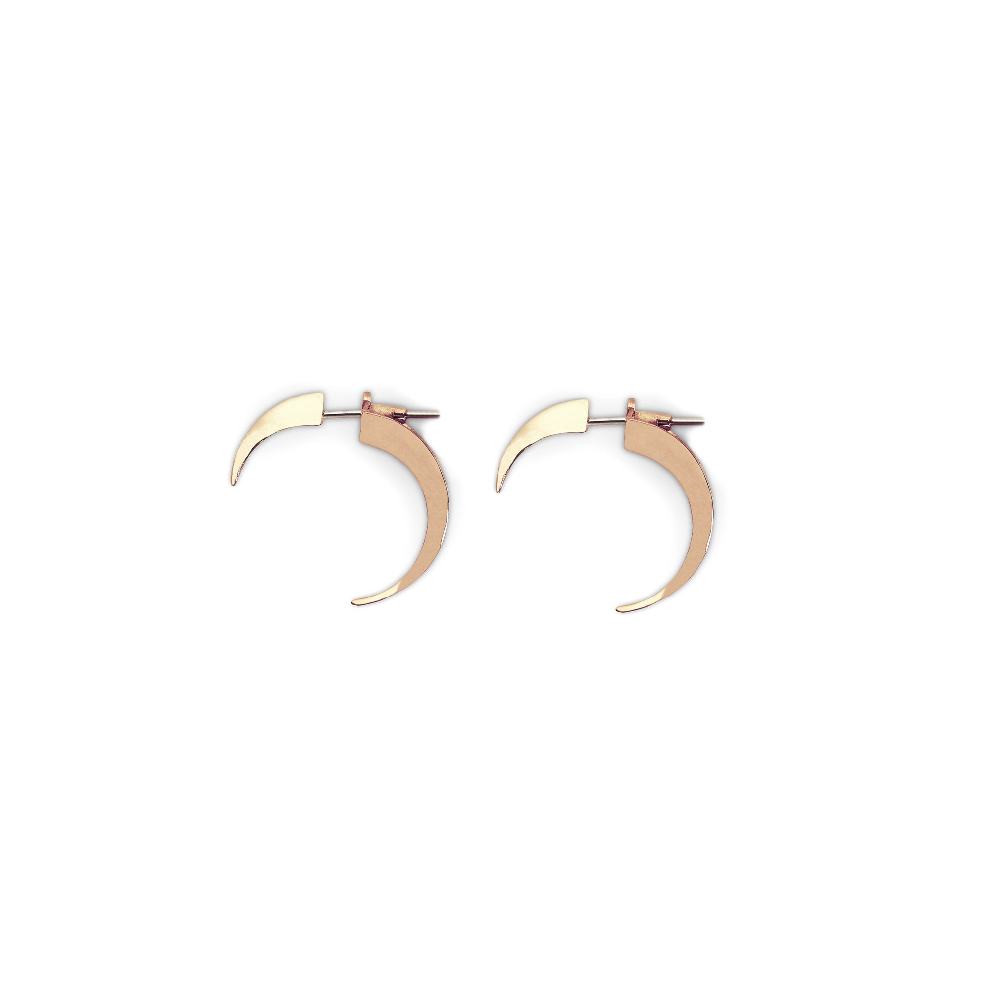 Front|back xs hooks Earrings in rose gold