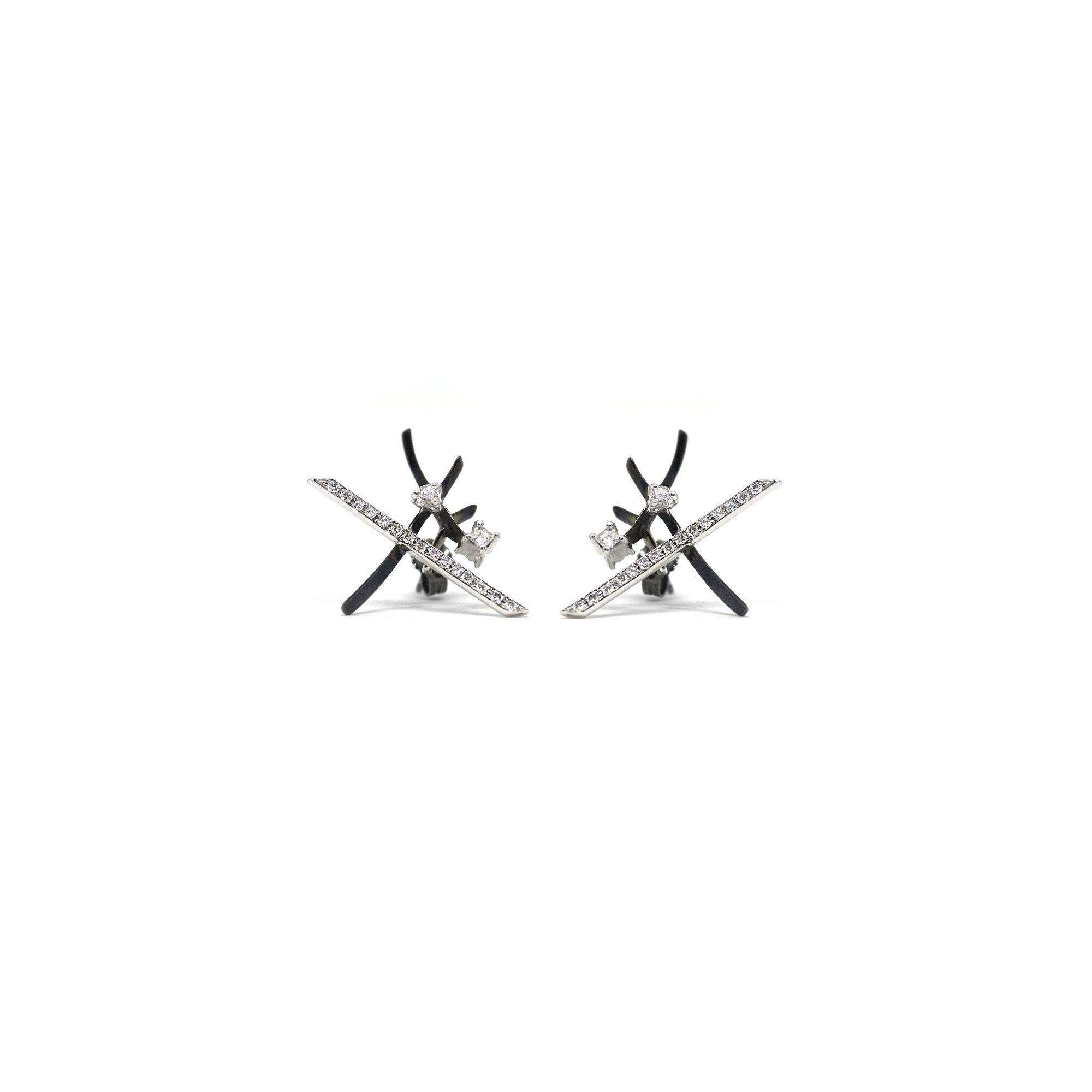 'Kandinsky' earrings White gold earrings with diamonds