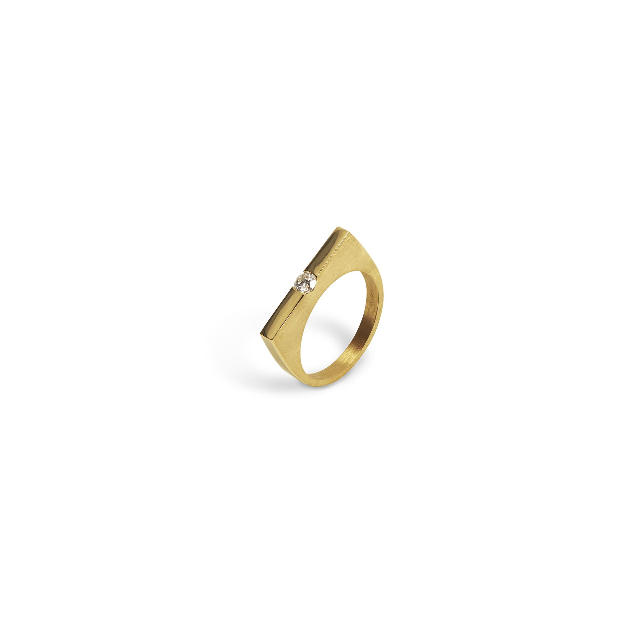 Modular 'Congiunzioni' Square ring Ring in yellow gold and diamonds
