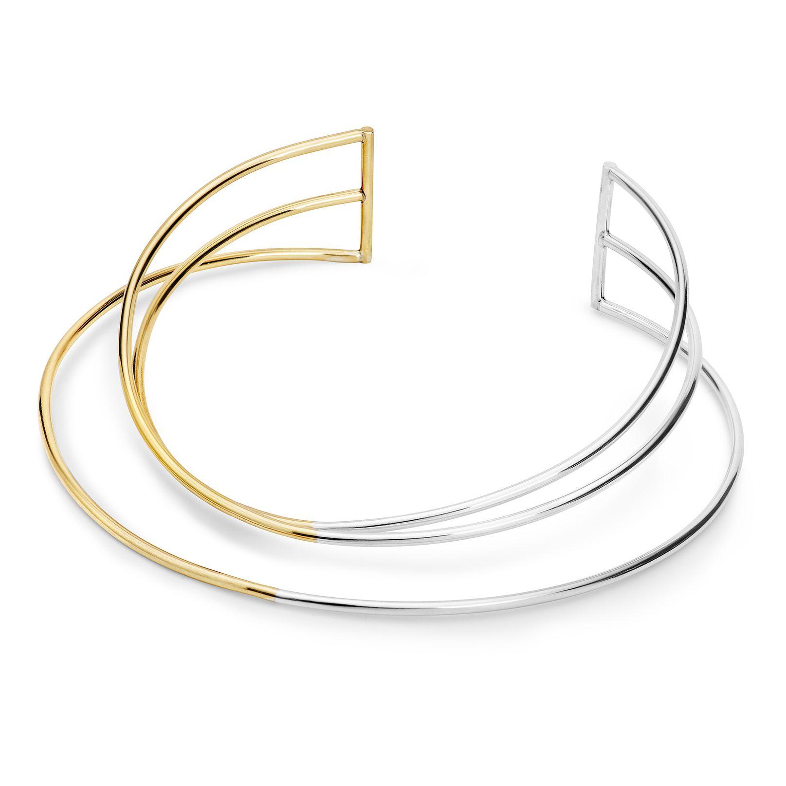 Collana multifilo 3 elementi 'Neon' collana in argento e bronzo