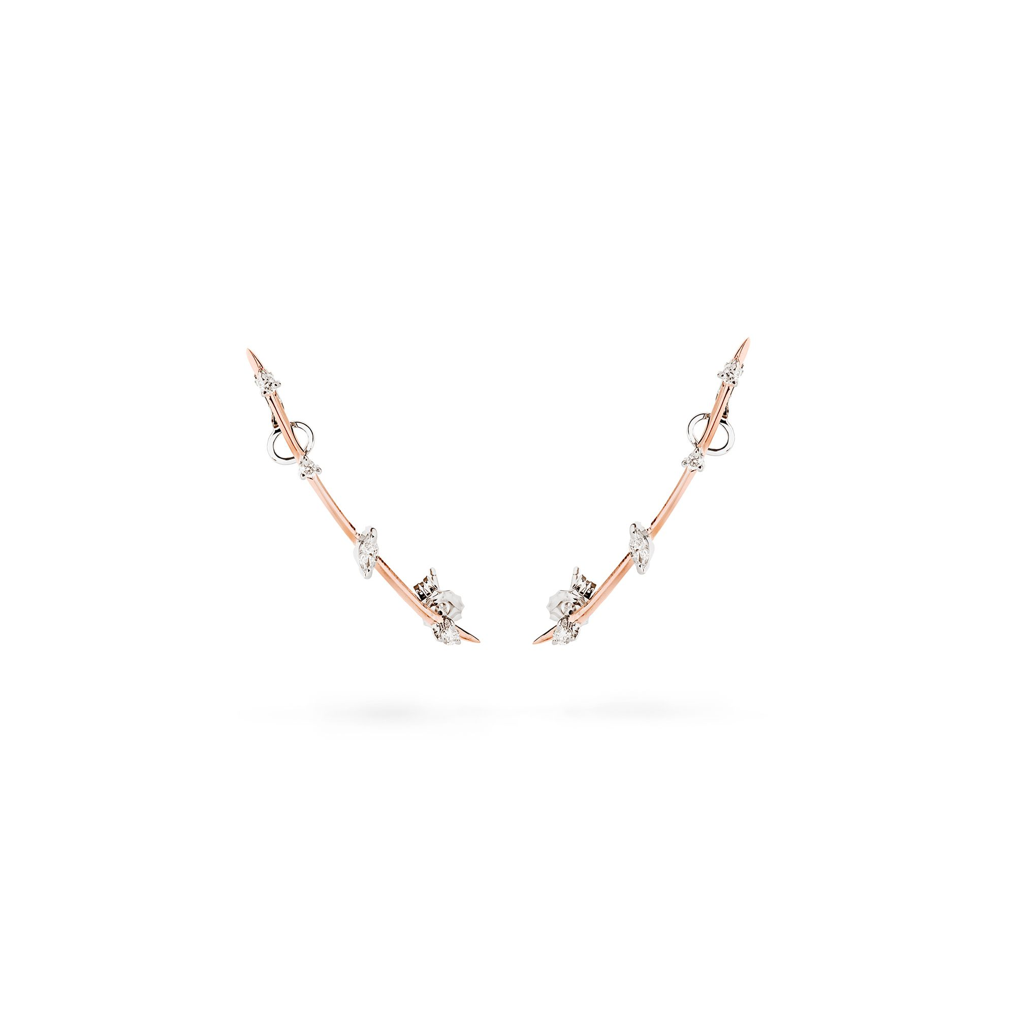 Rose gold 'Lance' earrings Earrings in rose gold and diamonds