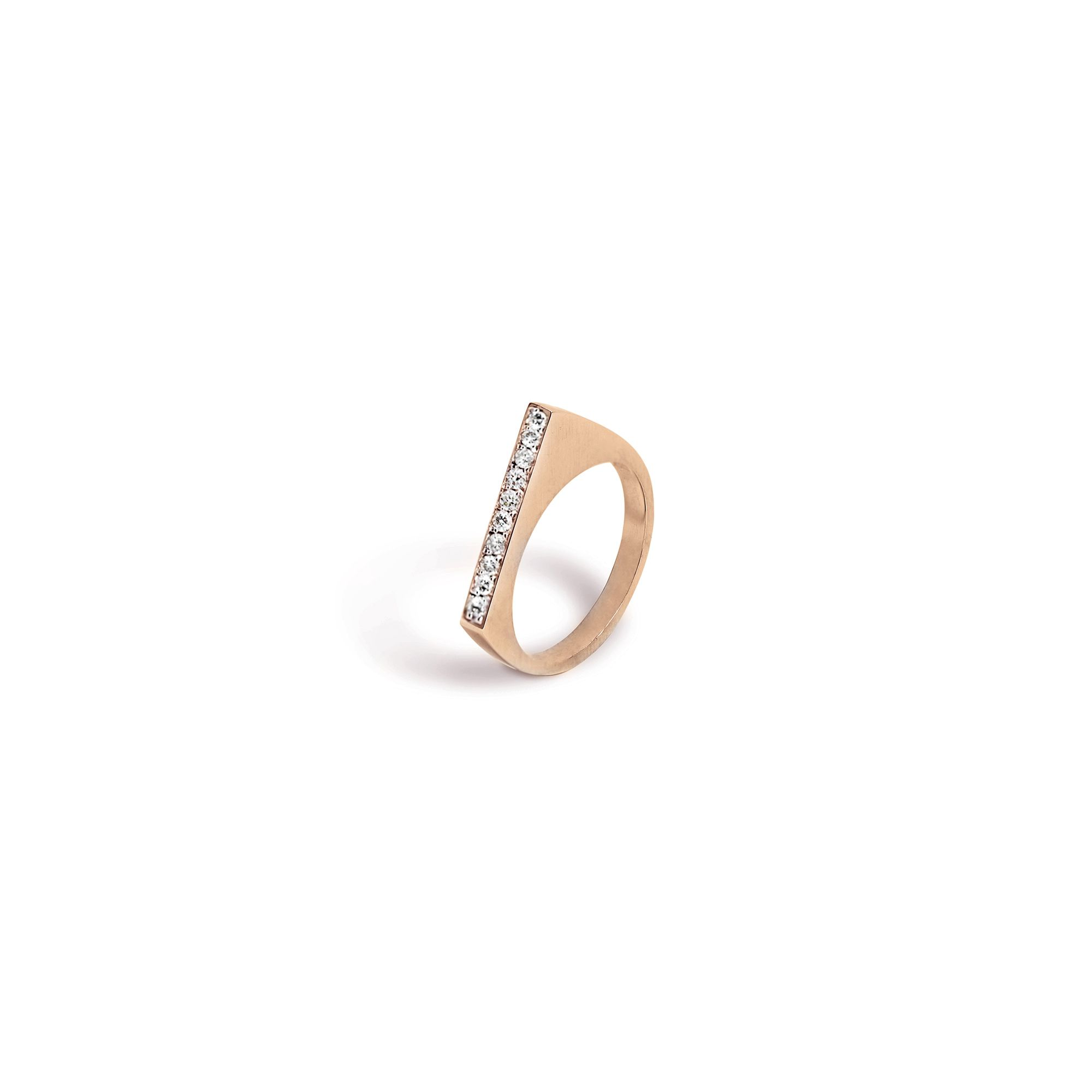 Rose gold modular 'Congiunzioni' point ring Ring in rose gold and diamonds