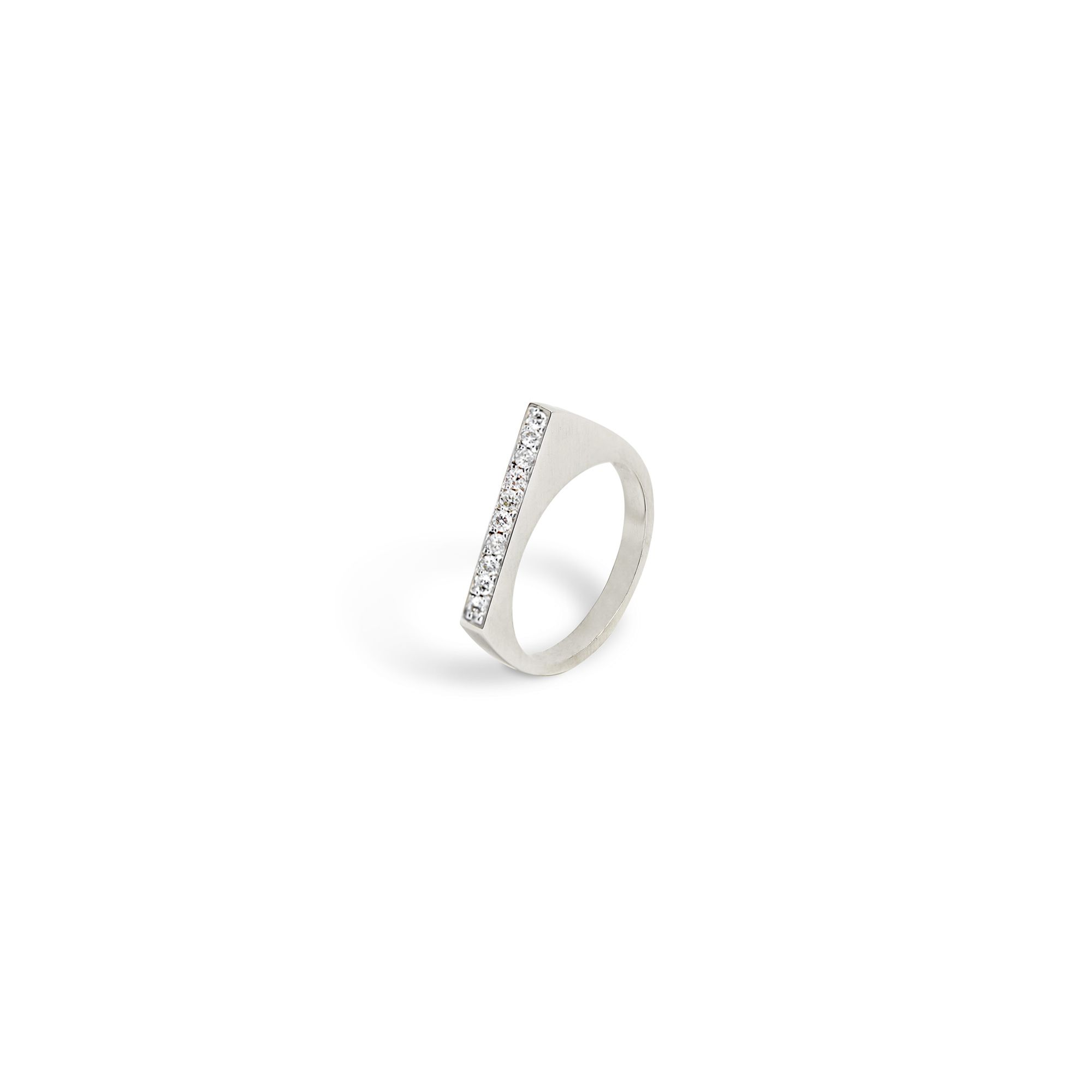 Rose gold modular 'Congiunzioni' point ring Ring in white gold and diamonds