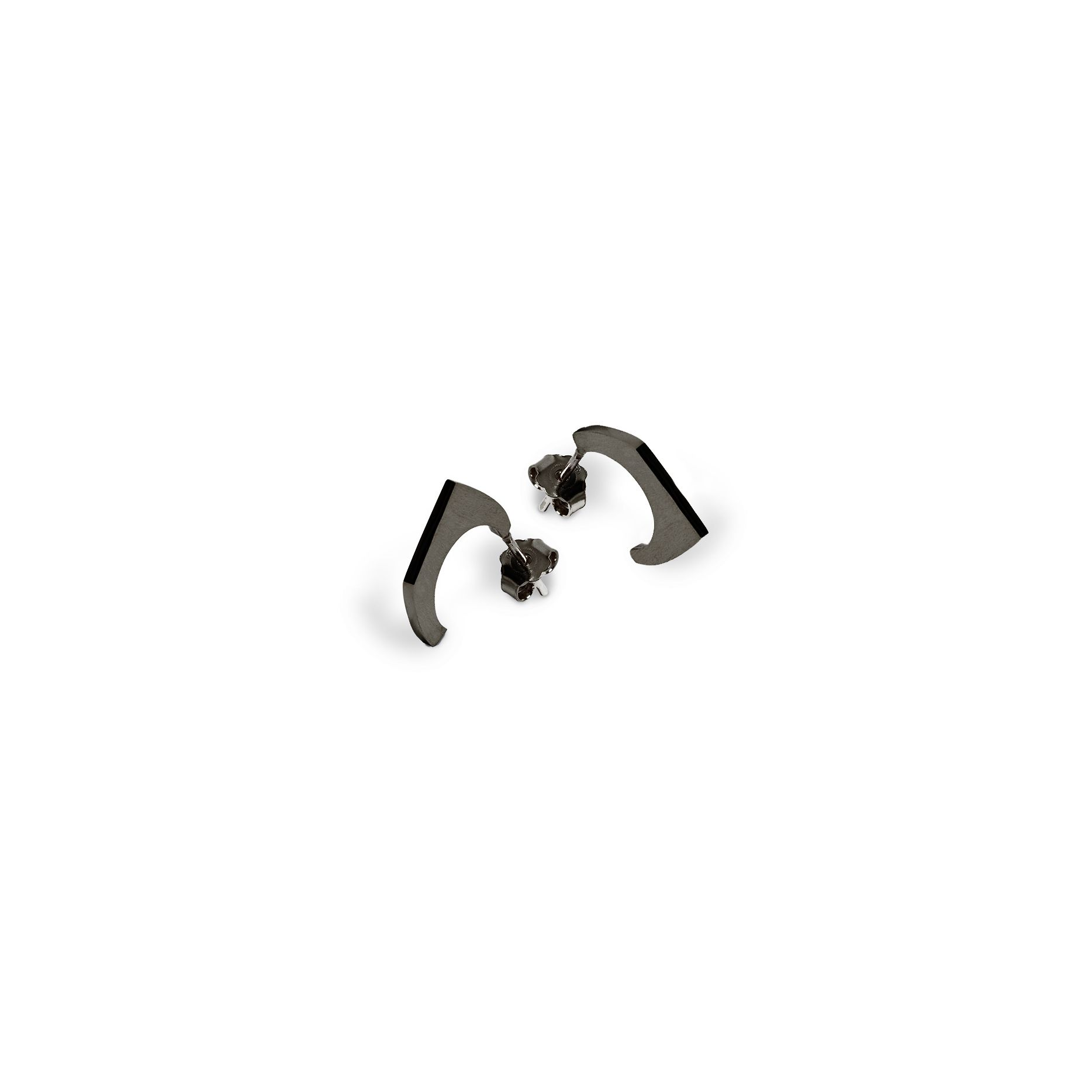 1 element 'Congiunzioni' earrings Earrings in black rhodium 925 silver plated