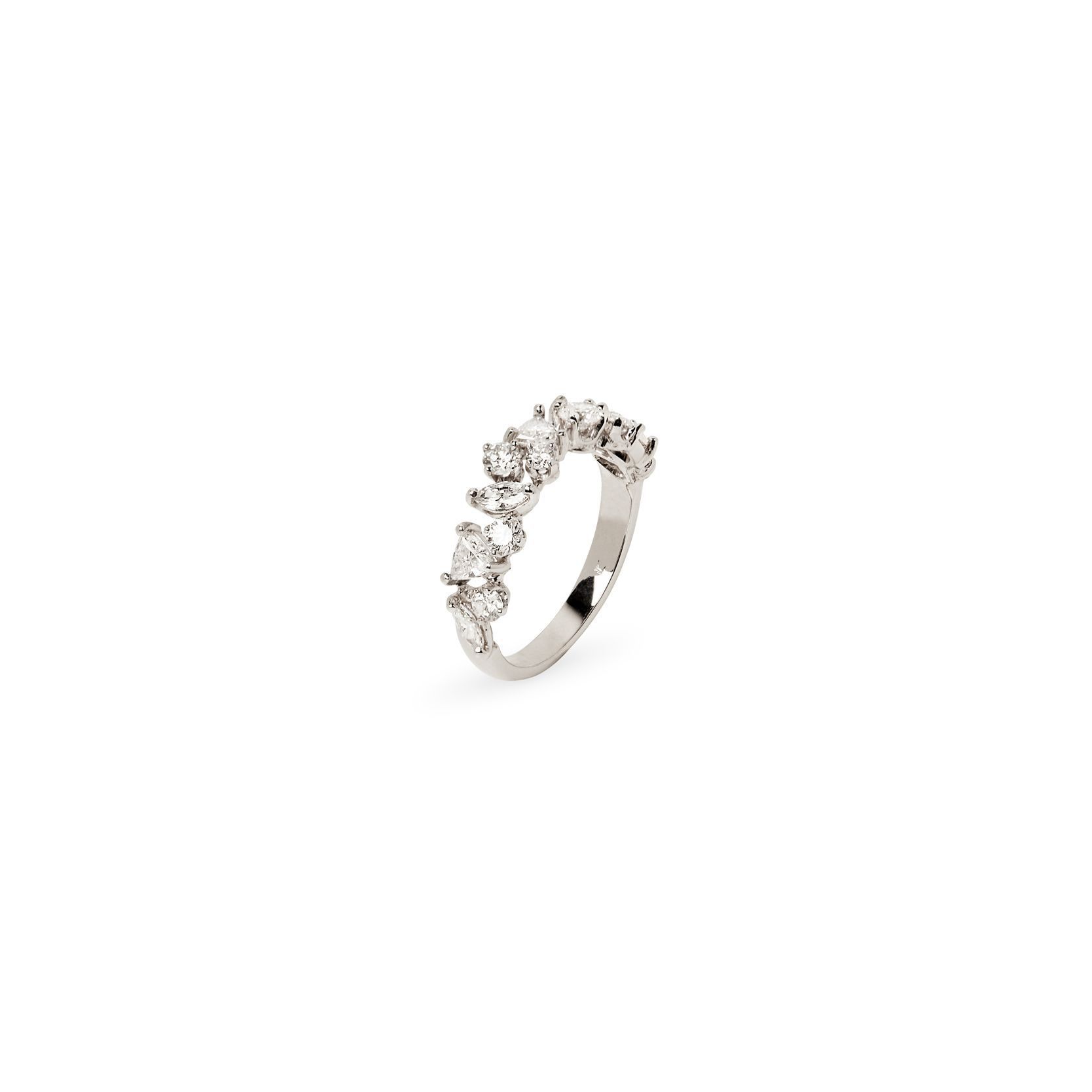Multi-fantasy diamond ring Ring in white gold and diamonds
