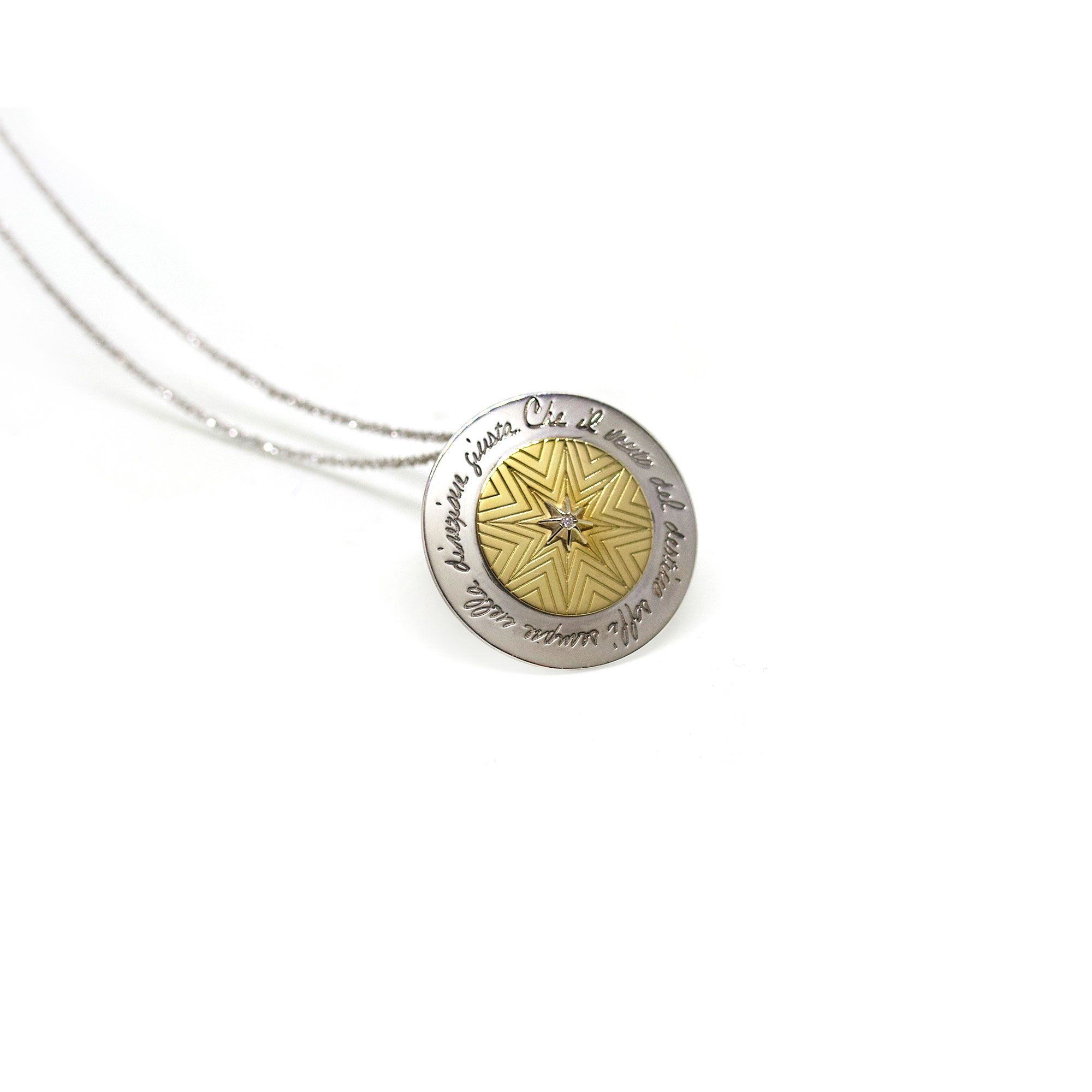 'Star of the Winds' Medal Silver and gold pendant