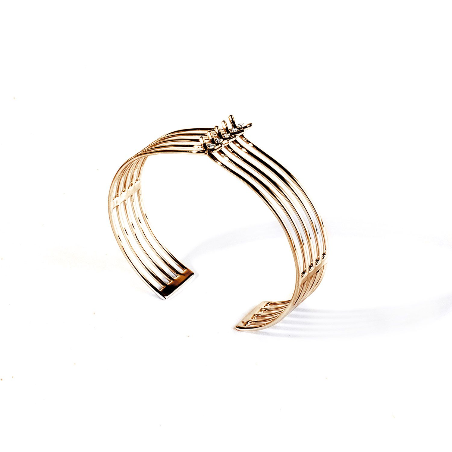 5 element 'Spinae' bracelet Yellow gold and diamond bracelet