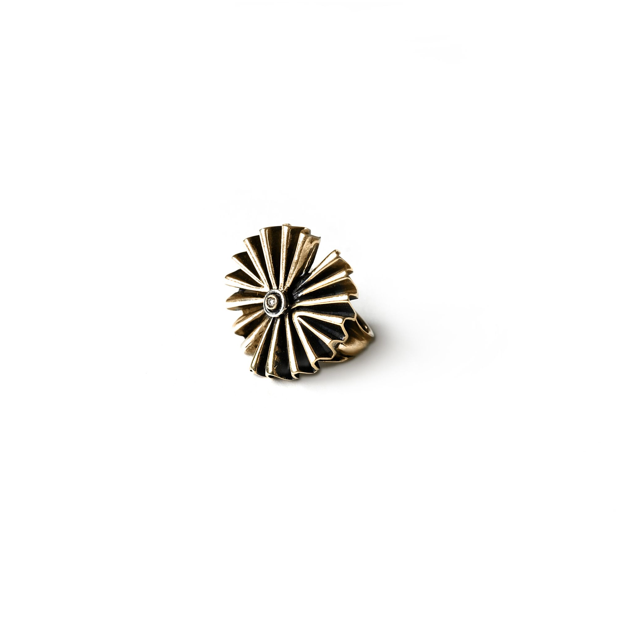 Double 'Fan' ring Bronze ring