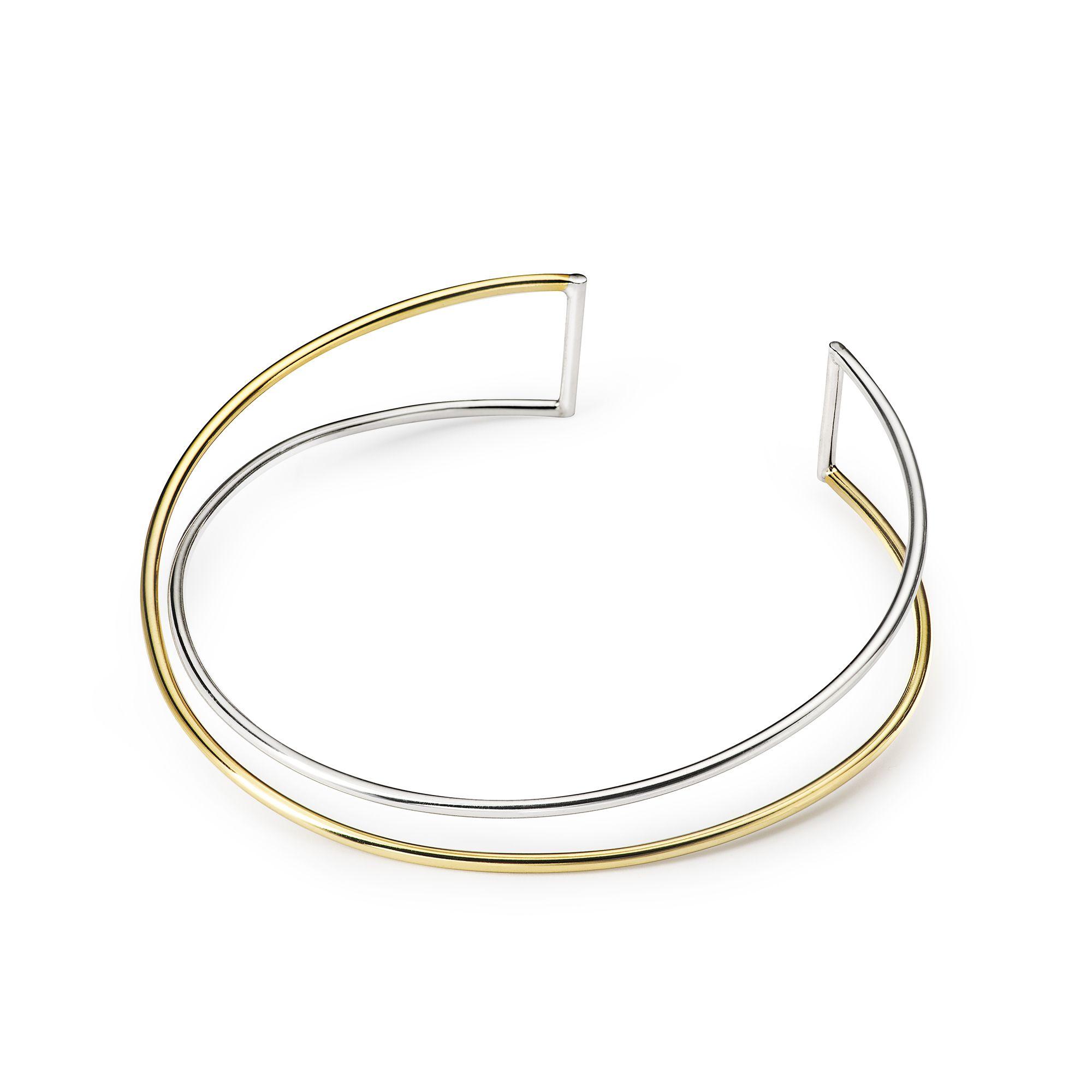 Collana multifido 2 elementi 'Neon' Collana in argento