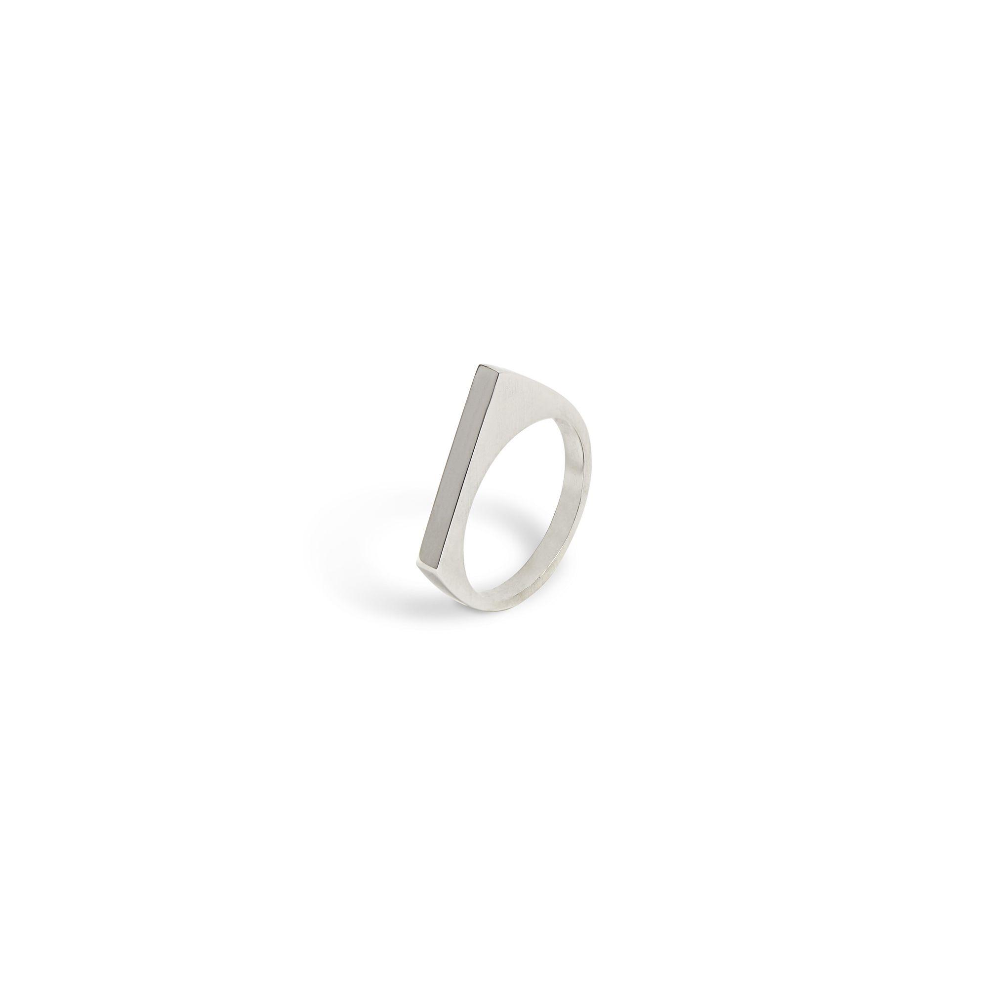 Modular 'Congiunzioni' point ring Silver modular ring