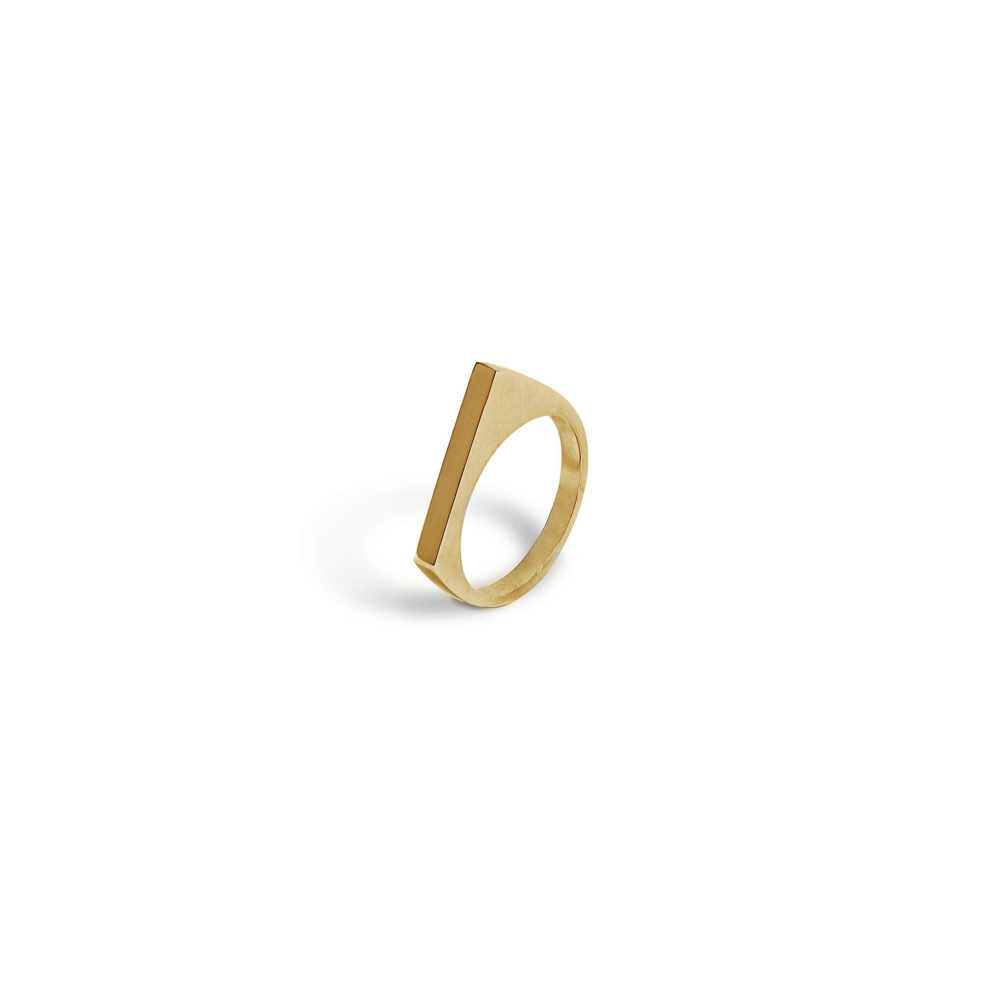 Modular 'Congiunzioni' point ring Bronze ring