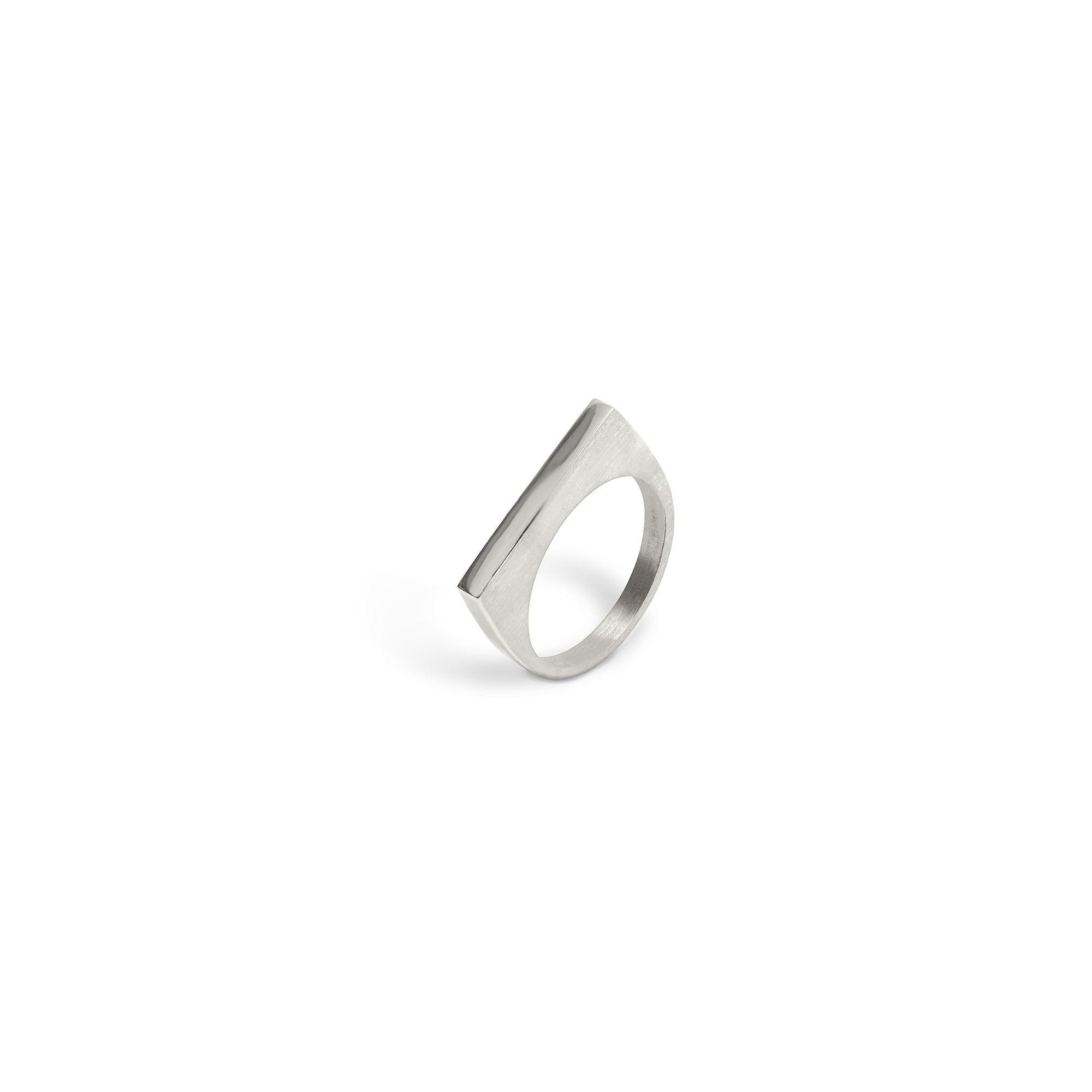 Modular 'Congiunzioni' square ring Silver ring