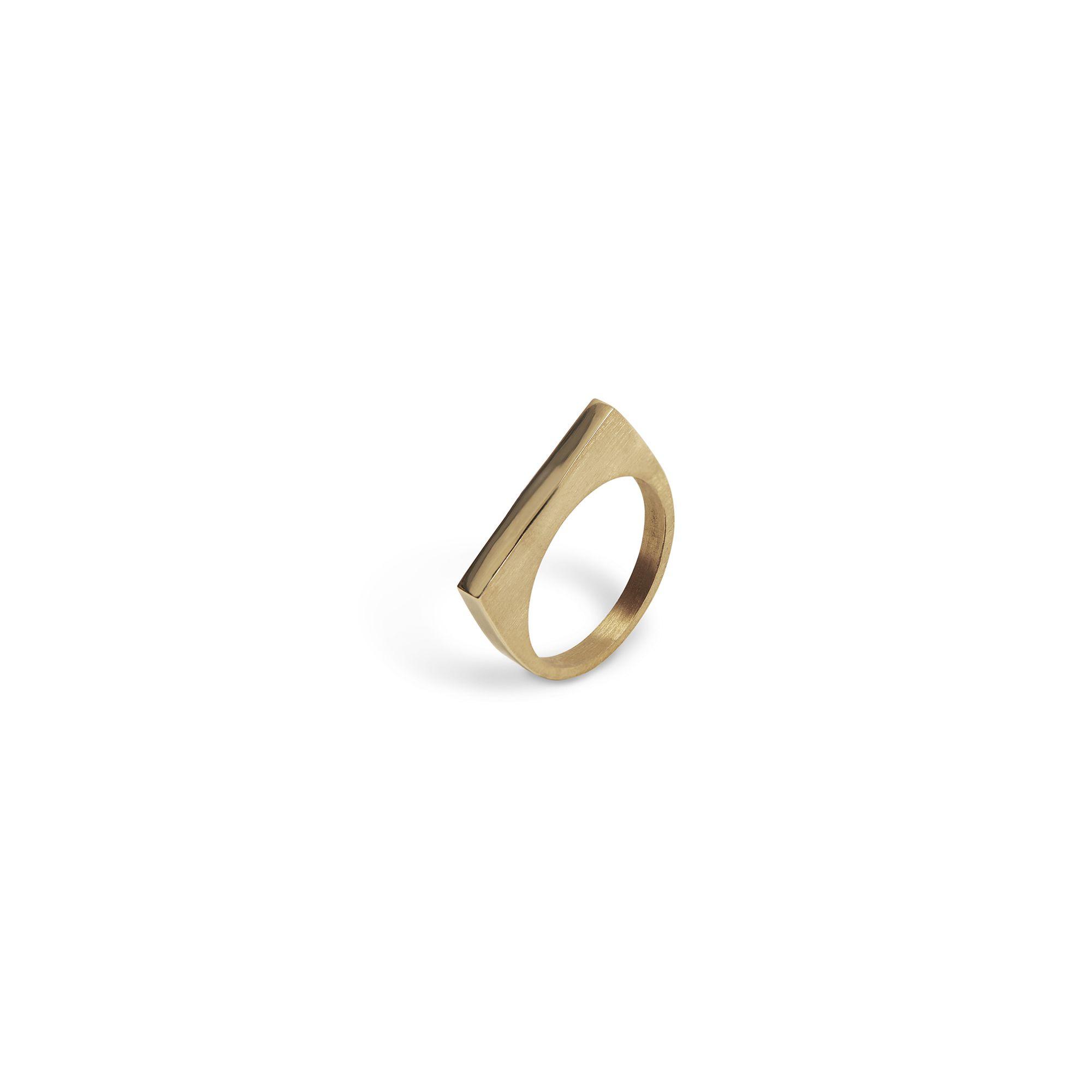 Modular 'Congiunzioni' square ring Bronze ring