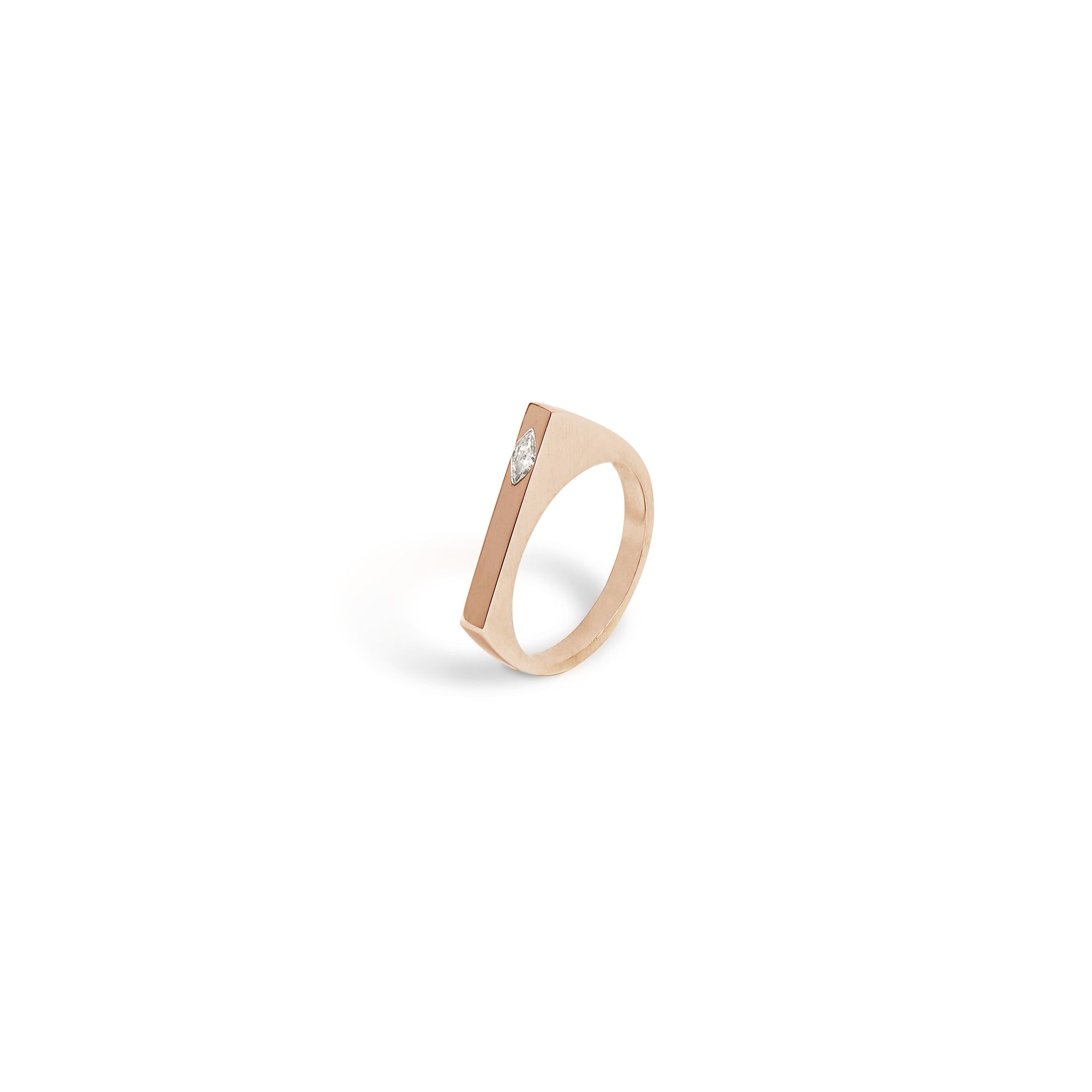 Rose gold 'Congiunzioni' ring with Marquise Rose gold ring with diamonds