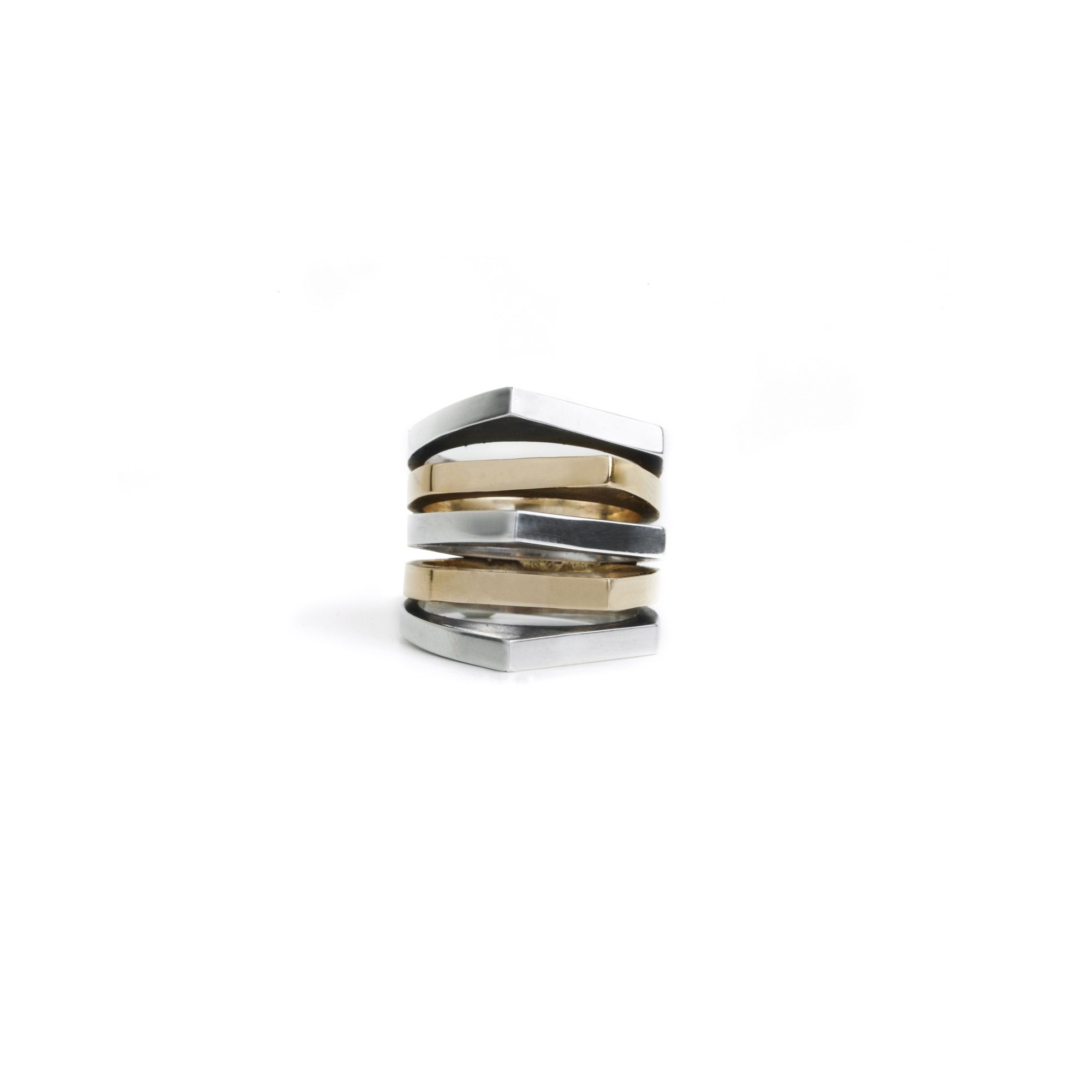 5 element 'Congiunzioni' ring Ring in silver and bronze