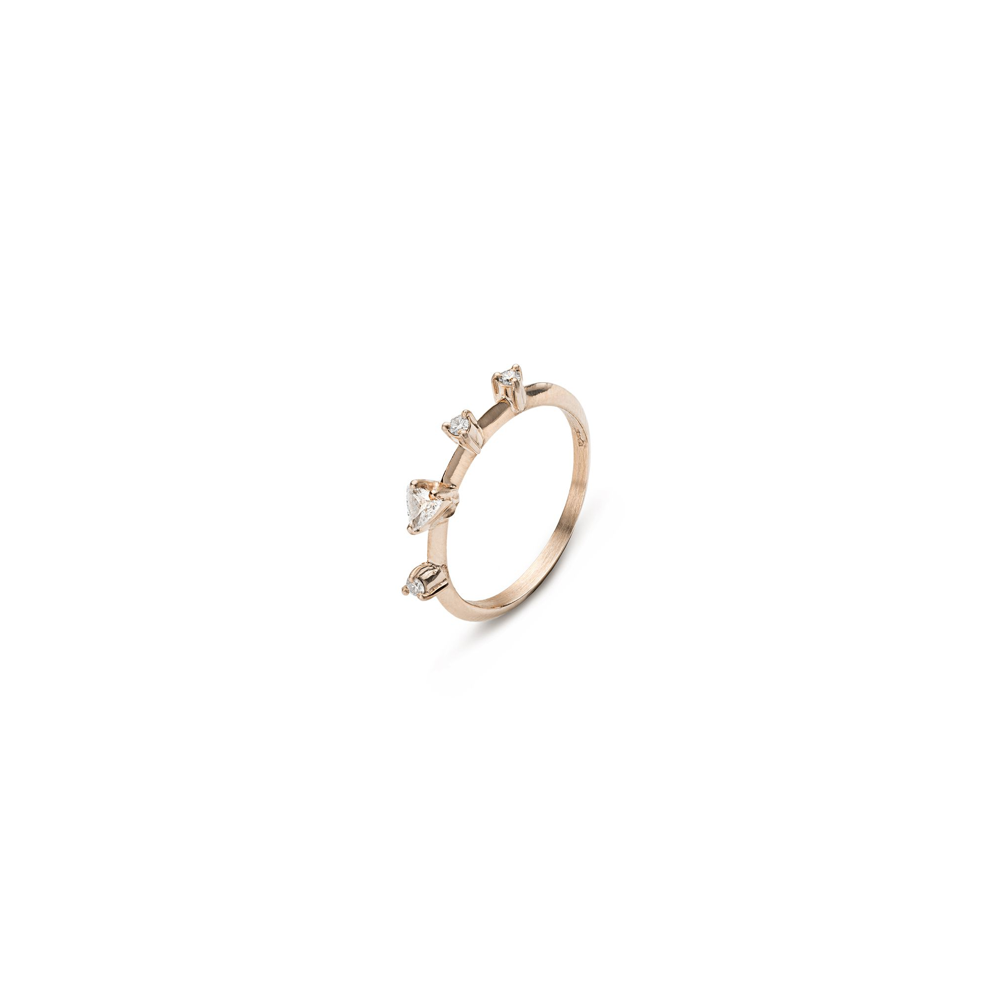Rose gold 'Balance' ring Rose gold ring with diamonds