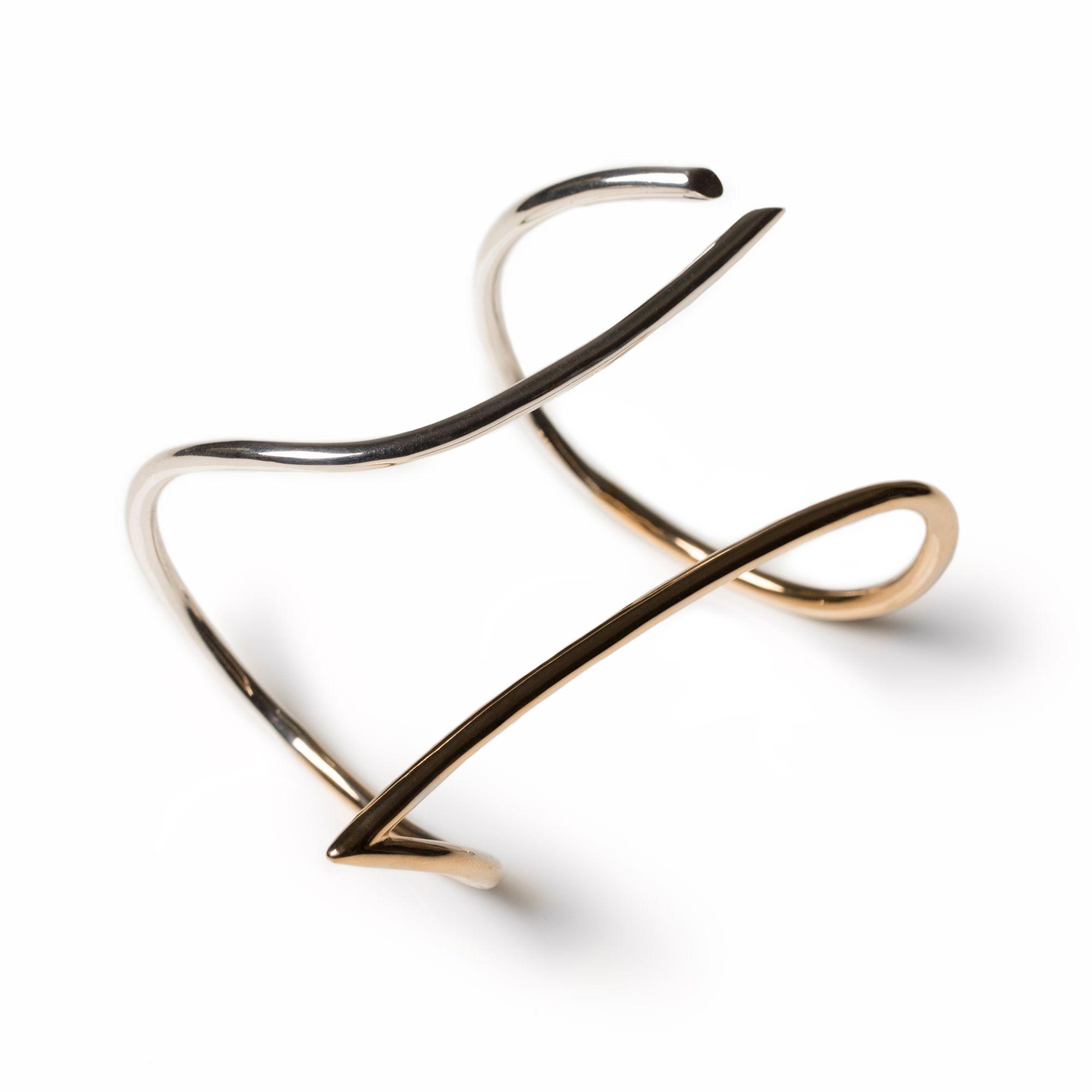 Bracciale 'Neon' bicolore Bracelet in silver and bronze