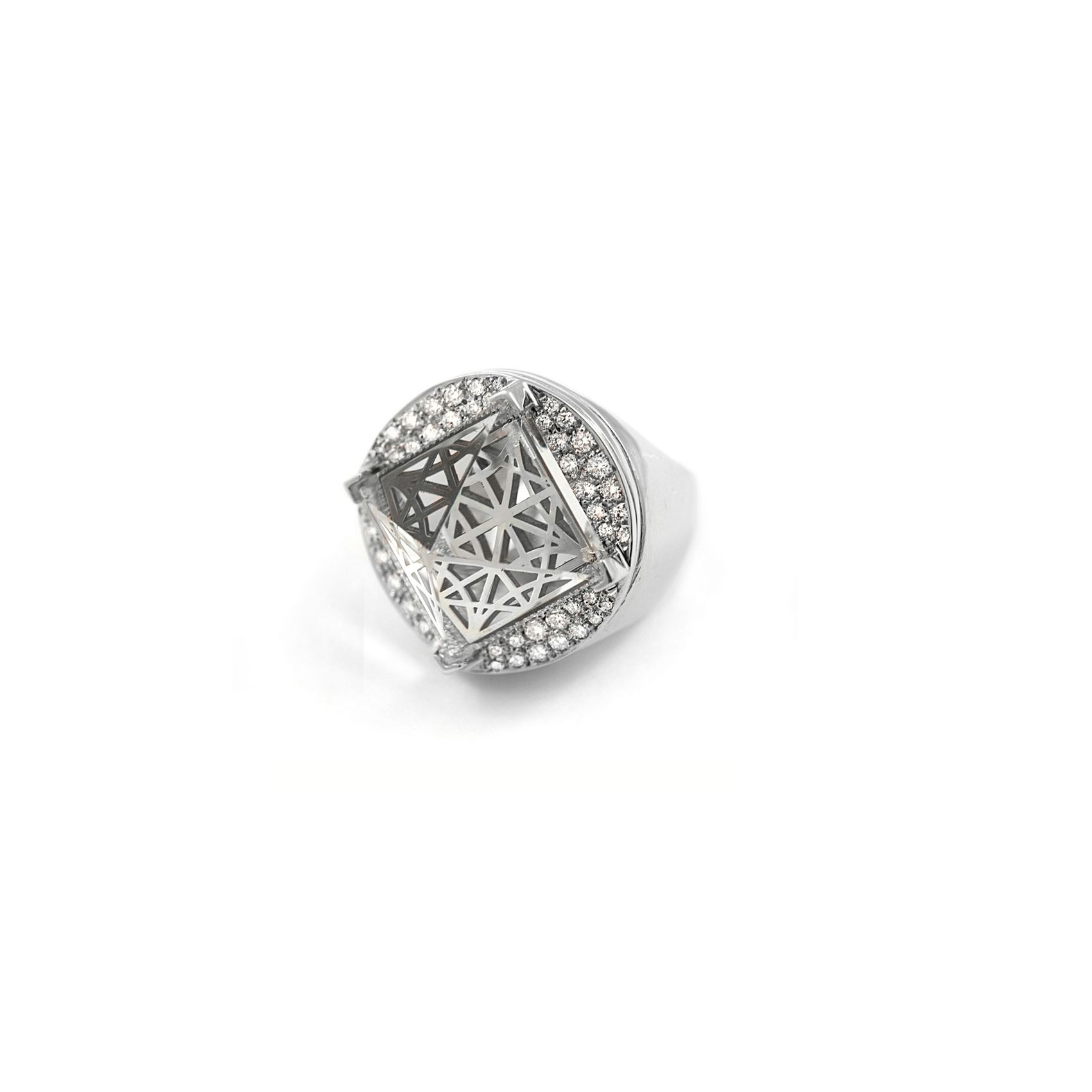 'Entropia' ring in gold and diamonds White gold and diamonds ring
