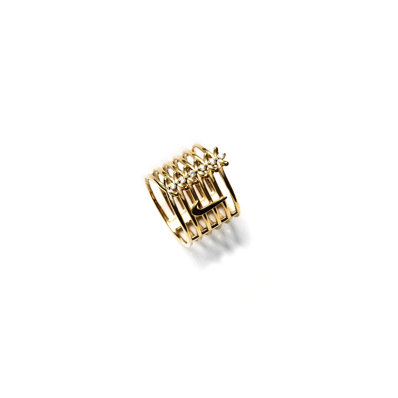 6 element 'Spinae' ring for Nike Limited edition in bronze